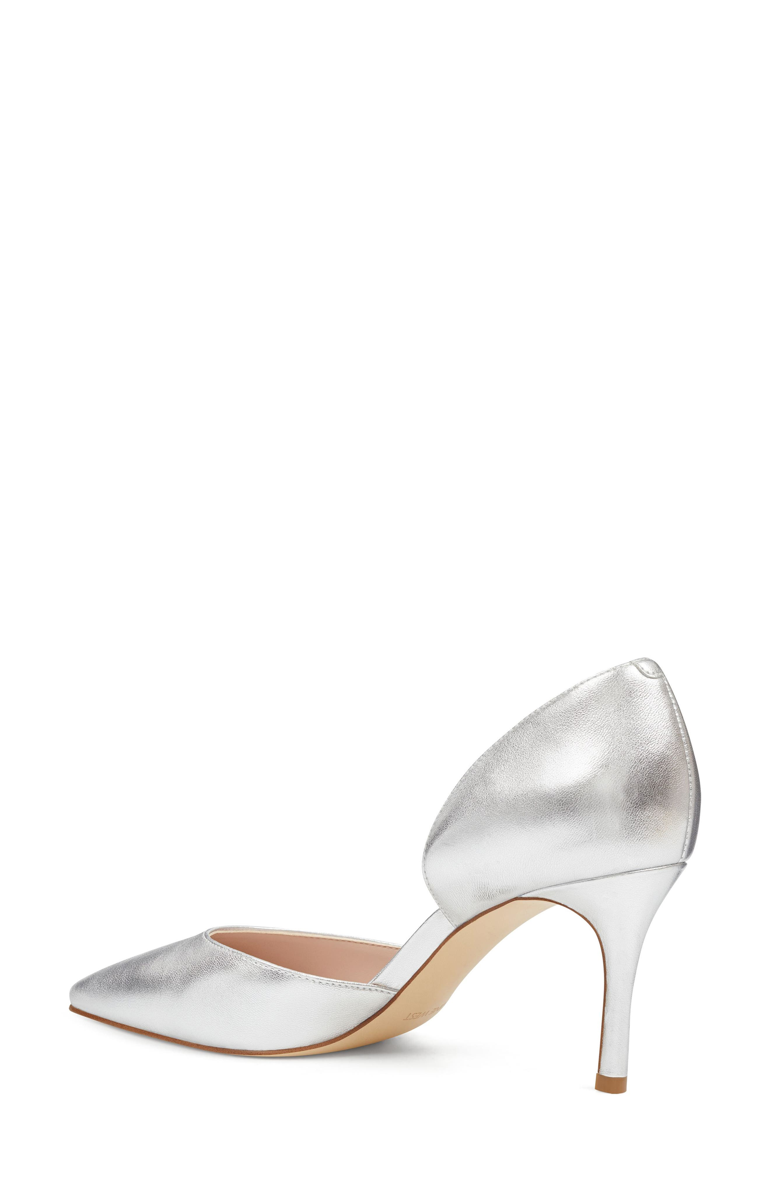 Mossiel Open Sided Pump,                             Alternate thumbnail 2, color,                             Silver