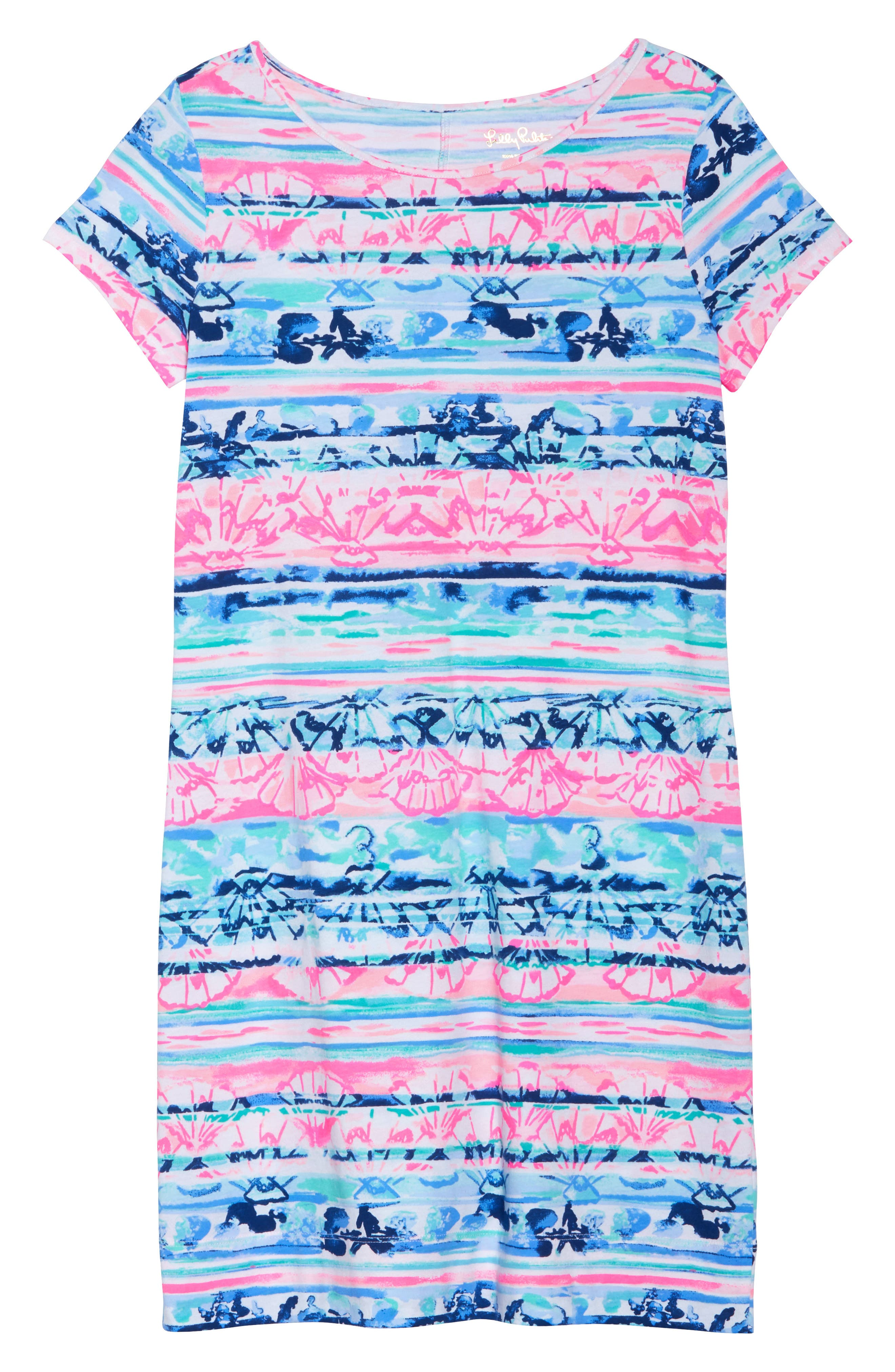 Marlowe T-Shirt Dress,                             Alternate thumbnail 6, color,                             Multi A Wave From It