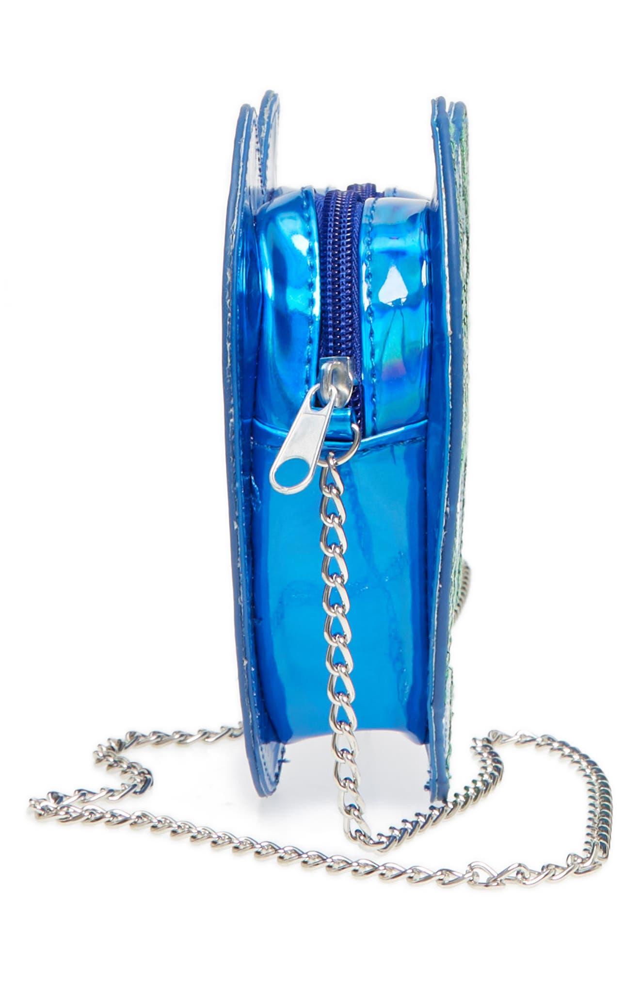 Heart Earth Crossbody Bag,                             Alternate thumbnail 4, color,                             Blue Combo