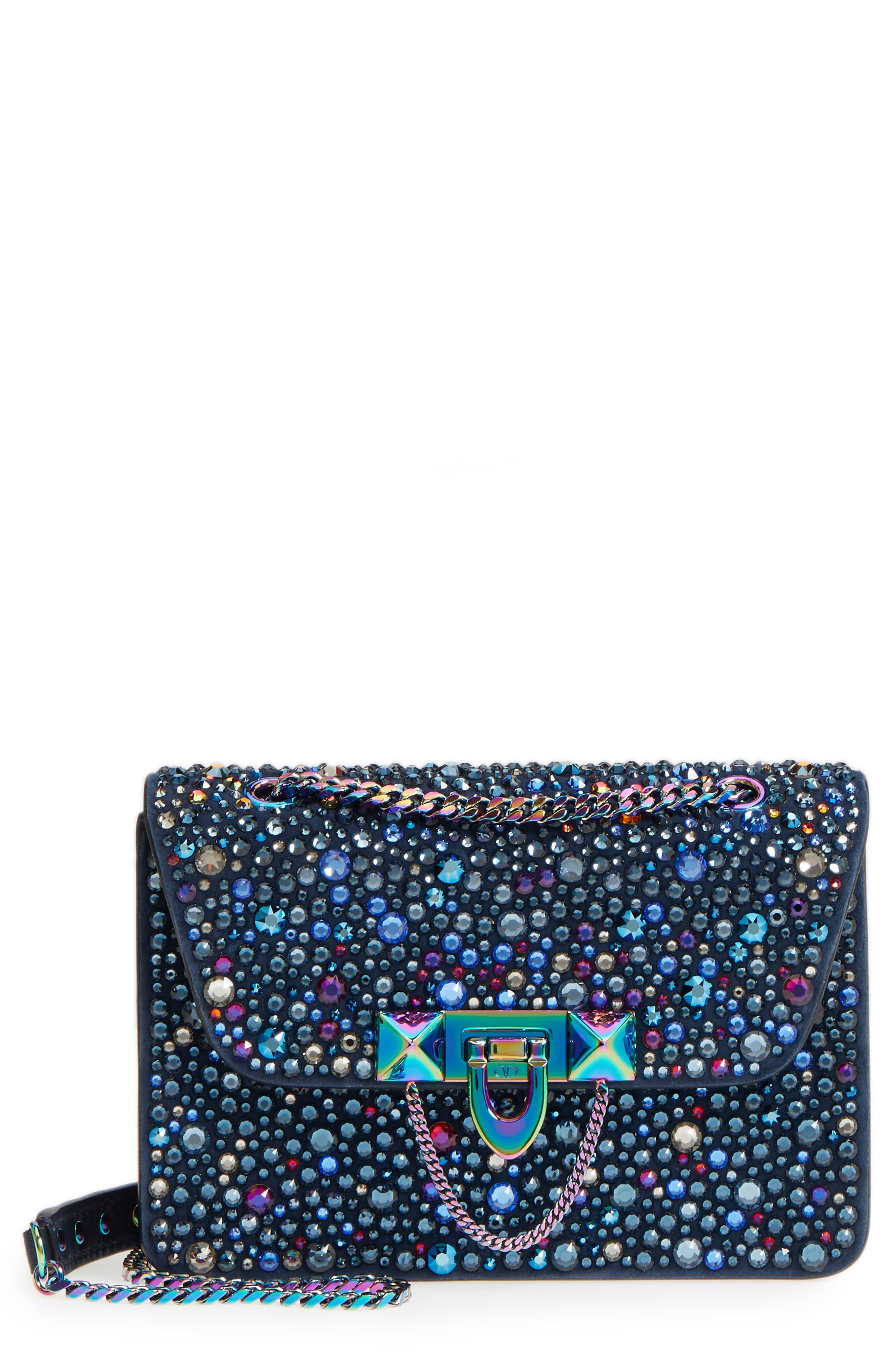 VALENTINO GARAVANI Crystal Embellished Mini Shoulder Bag