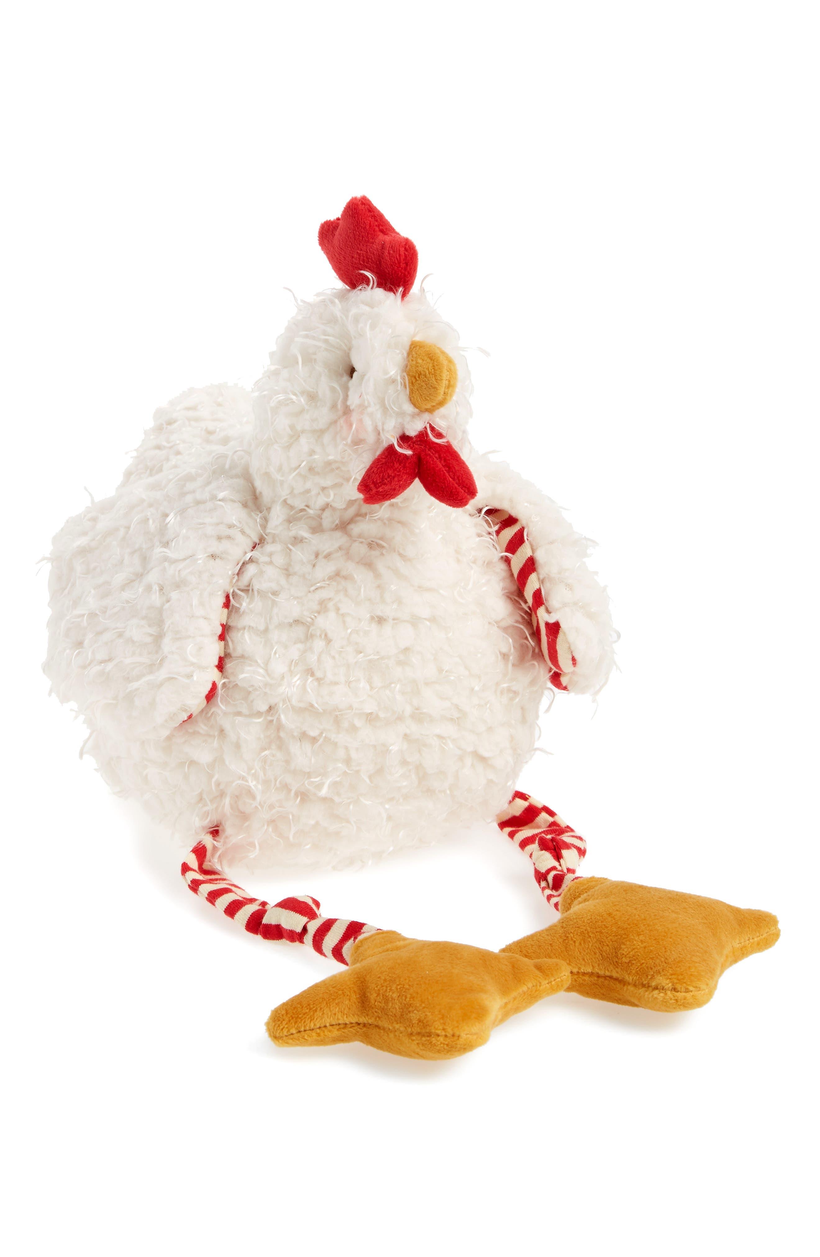 Clucky Chicken Stuffed Animal,                             Main thumbnail 1, color,                             Cream