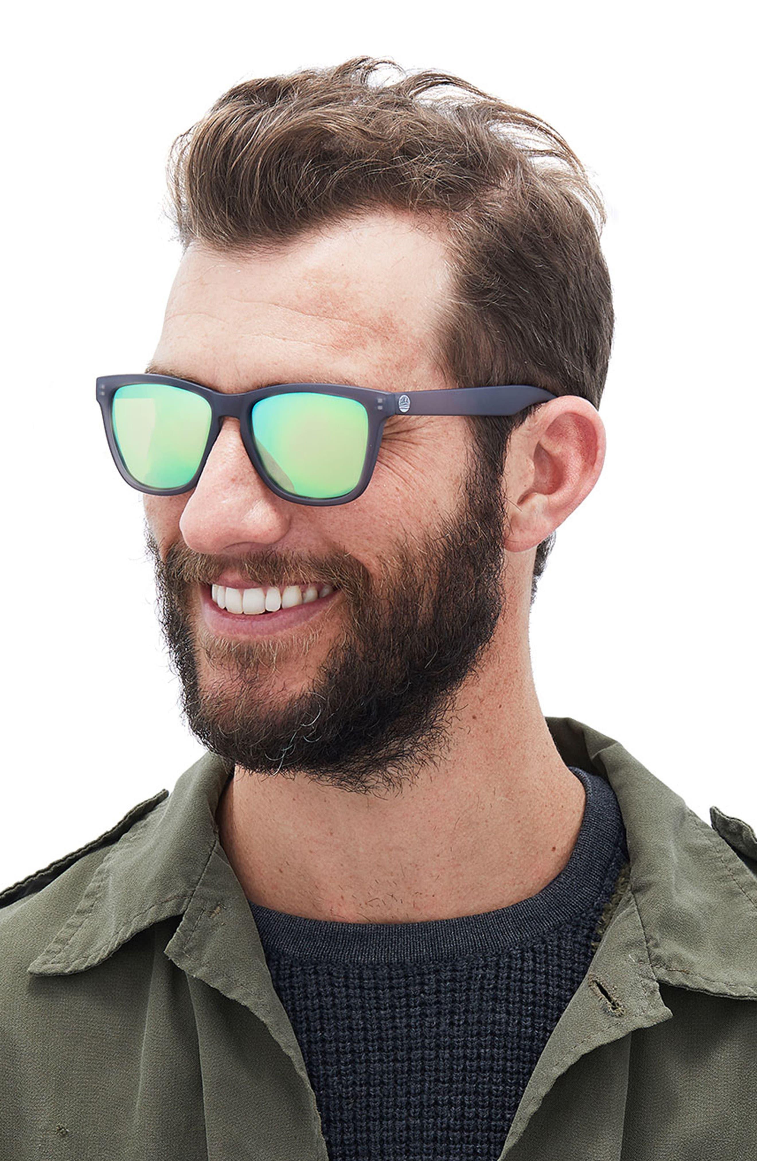 Headland 53m Polarized Sunglasses,                             Alternate thumbnail 3, color,                             Black / Lime