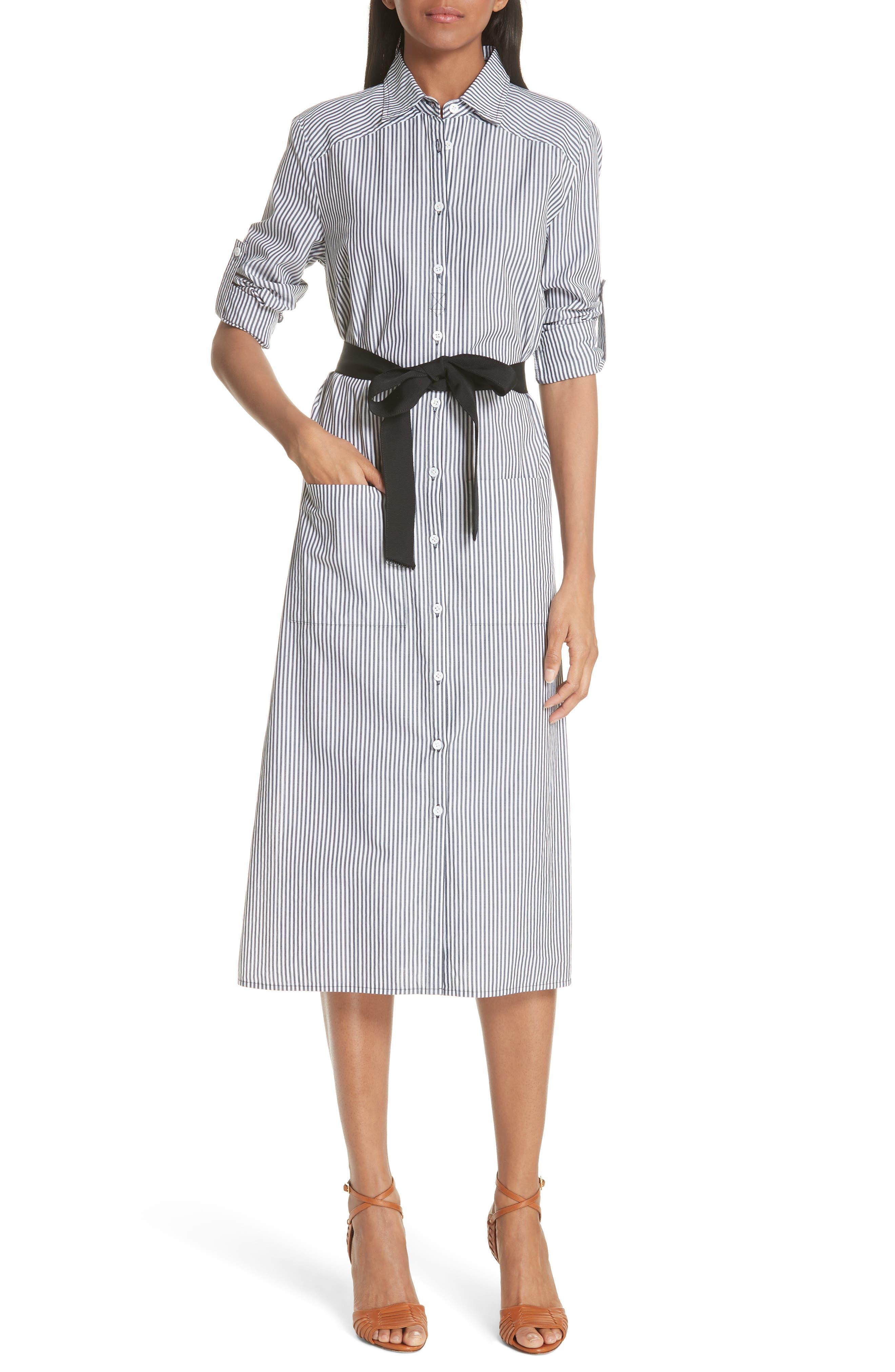 Veronica Beard Carter Stripe Shirtdress
