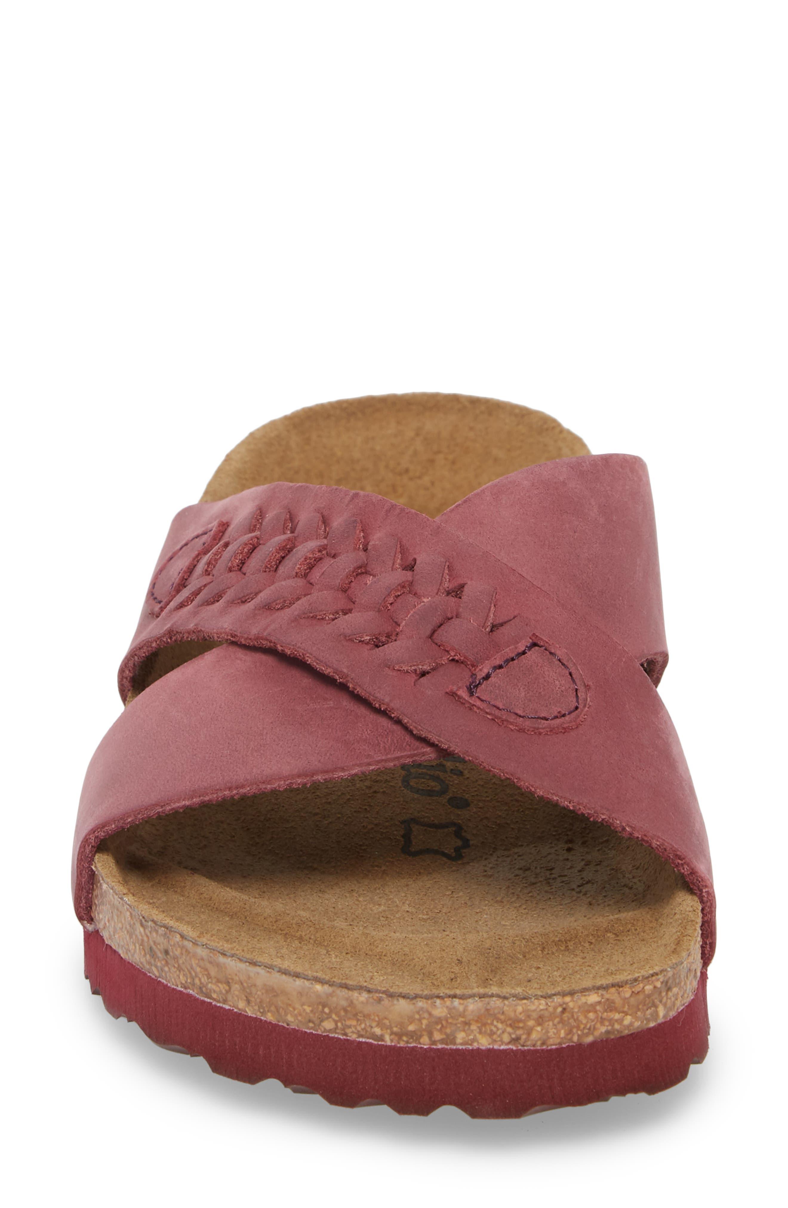 Papillio by Birkenstock Daytona Slide Sandal,                             Alternate thumbnail 4, color,                             Woven Wine Nubuck