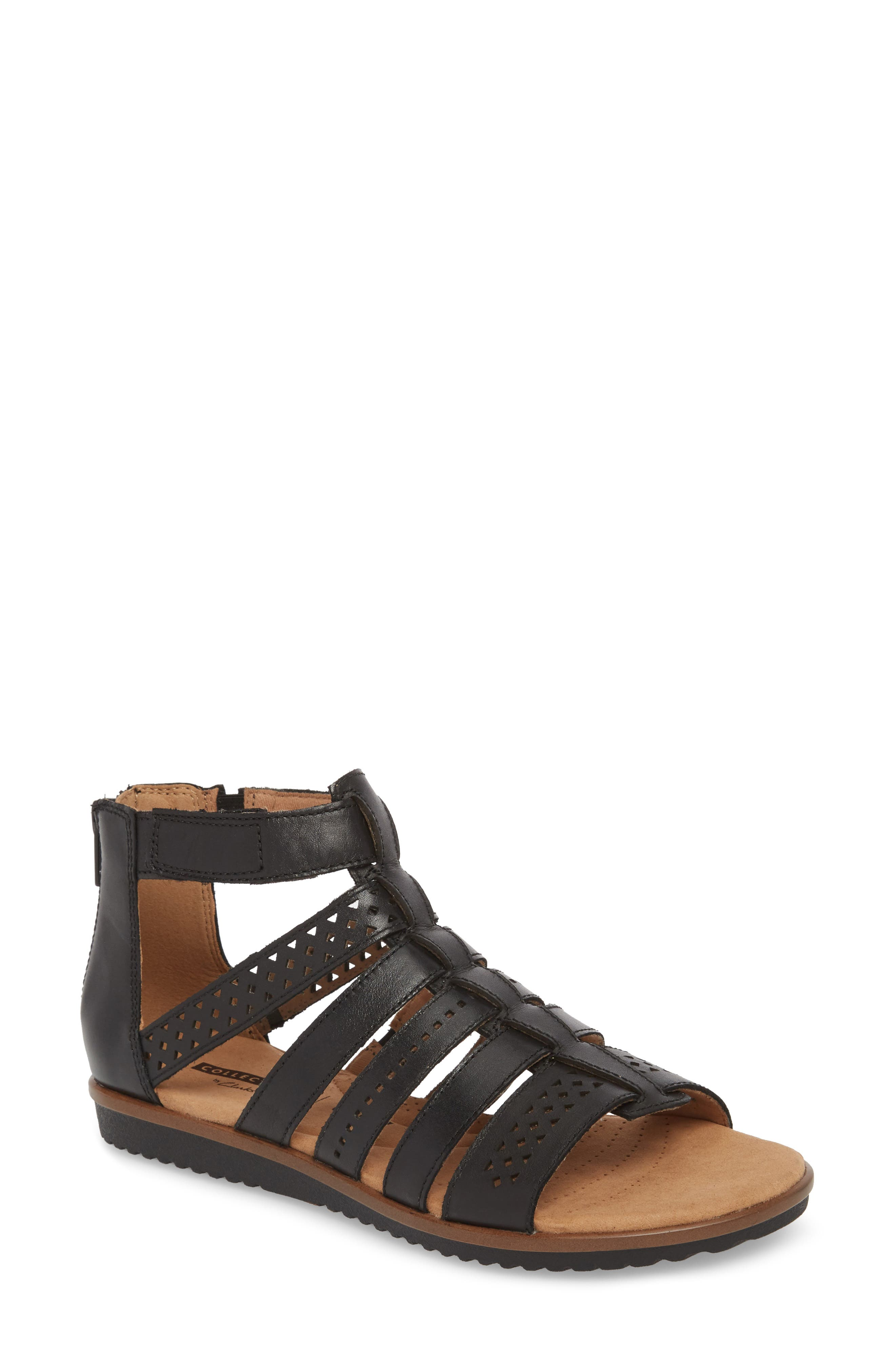 Alternate Image 1 Selected - Clarks® Kele Lotus Sandal (Women)