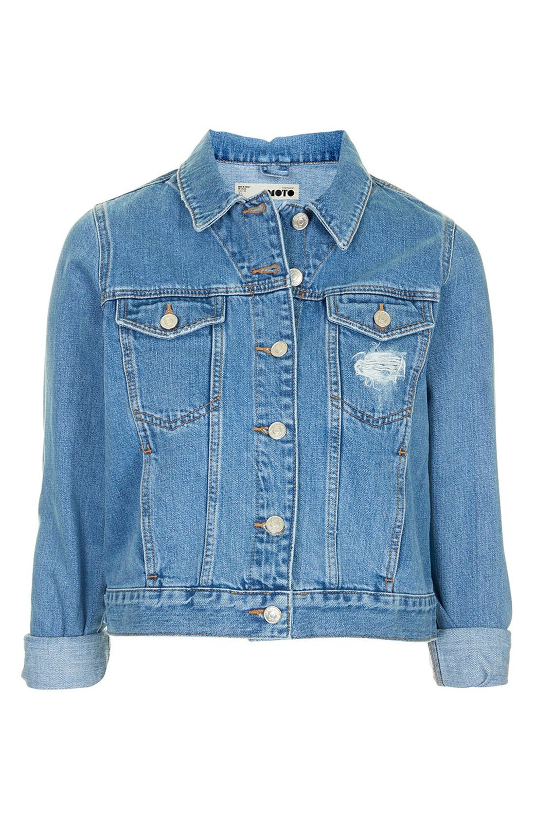 Alternate Image 3  - Topshop Moto 'Tilda' Denim Jacket