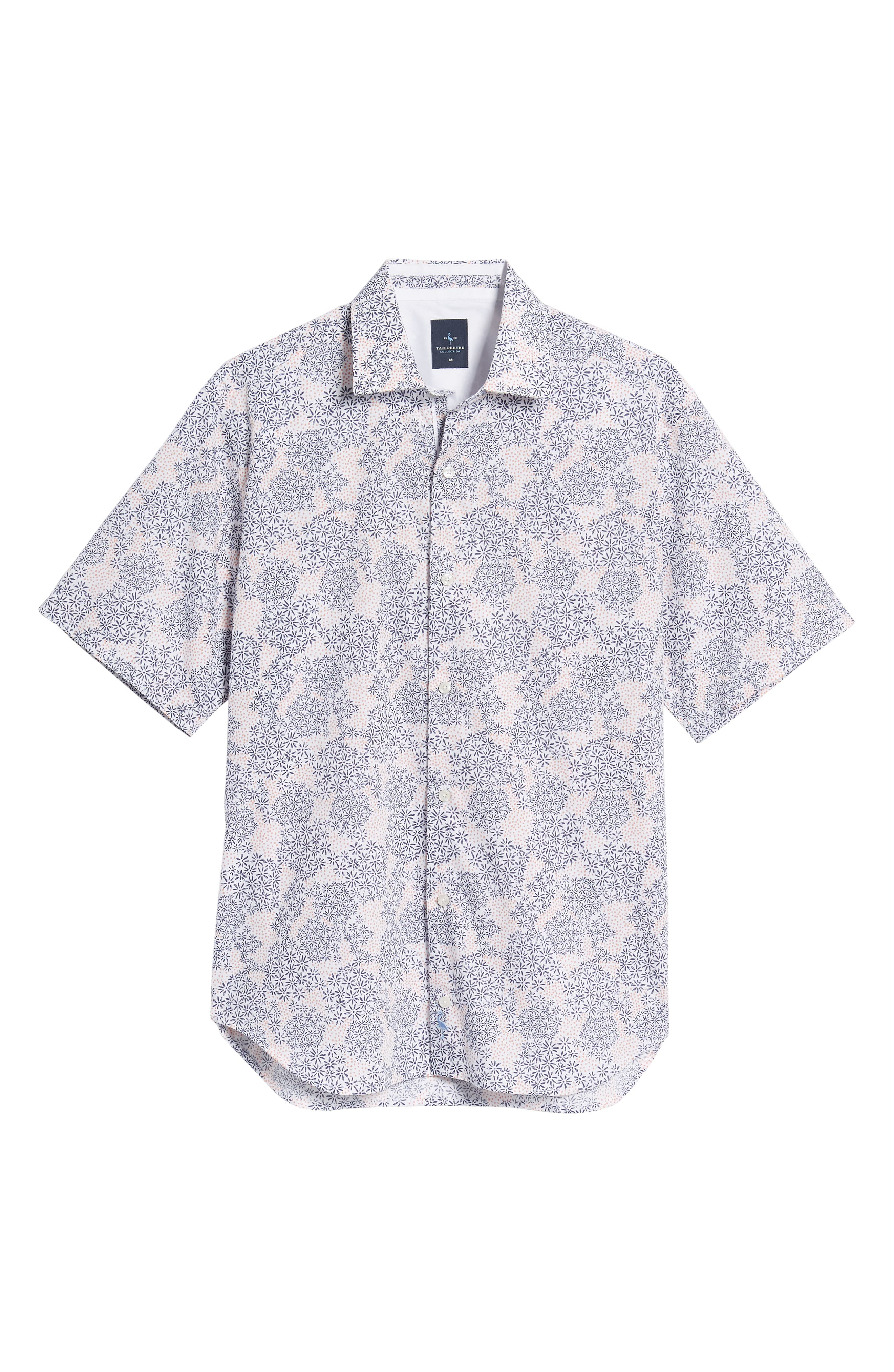 Ali Regular Fit Print Sport Shirt,                             Alternate thumbnail 6, color,                             Navy