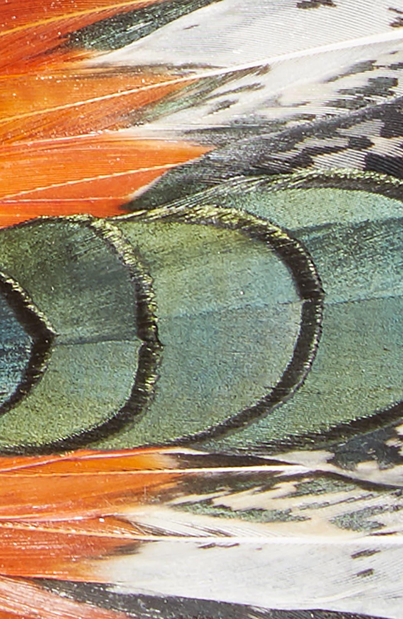 Brackish & Bell Lucas Feather Bow Tie,                             Alternate thumbnail 2, color,                             Orange
