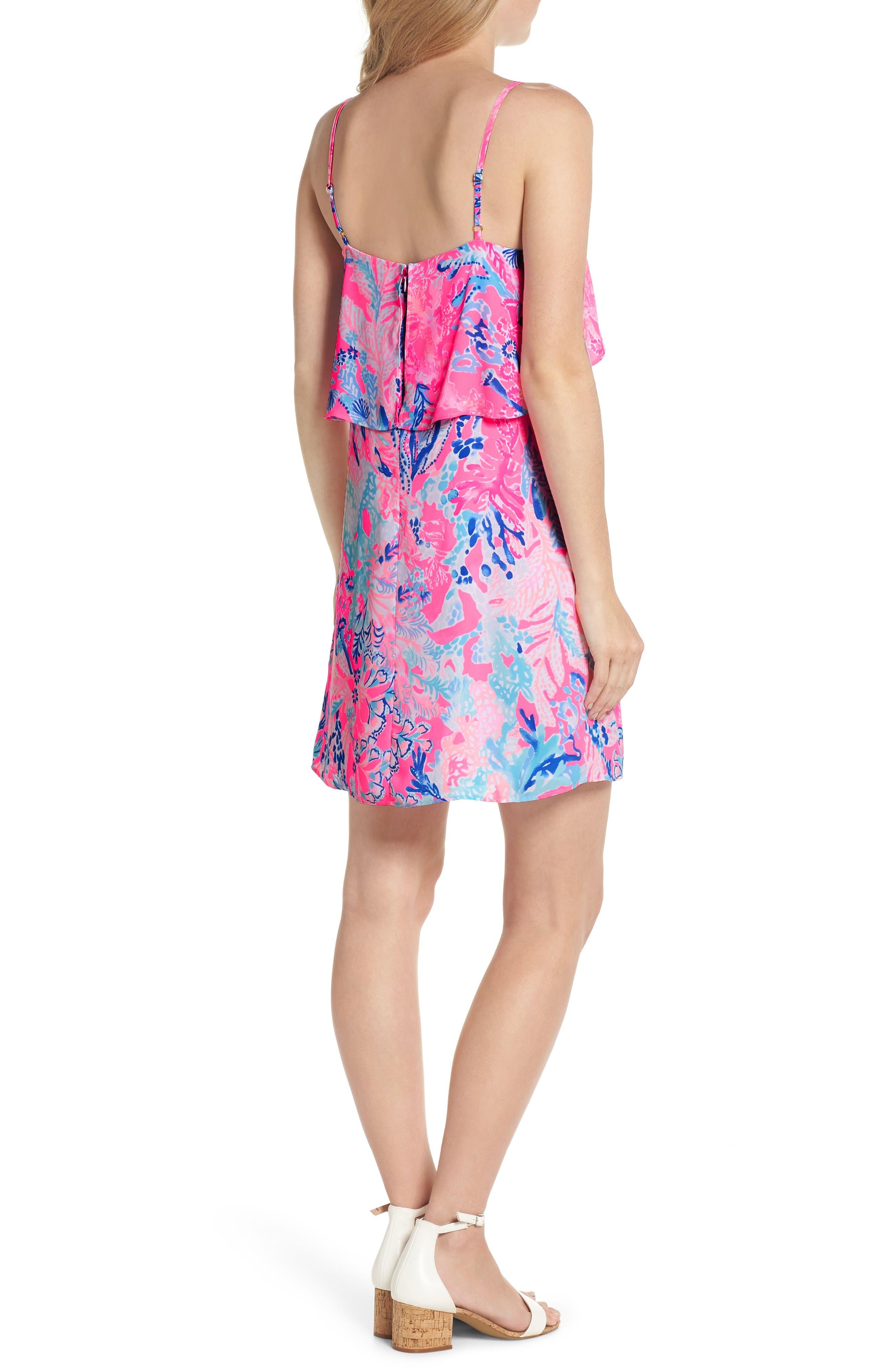 Lexi Shift Dress,                             Alternate thumbnail 2, color,                             Light Pascha Pink Aquadesiac