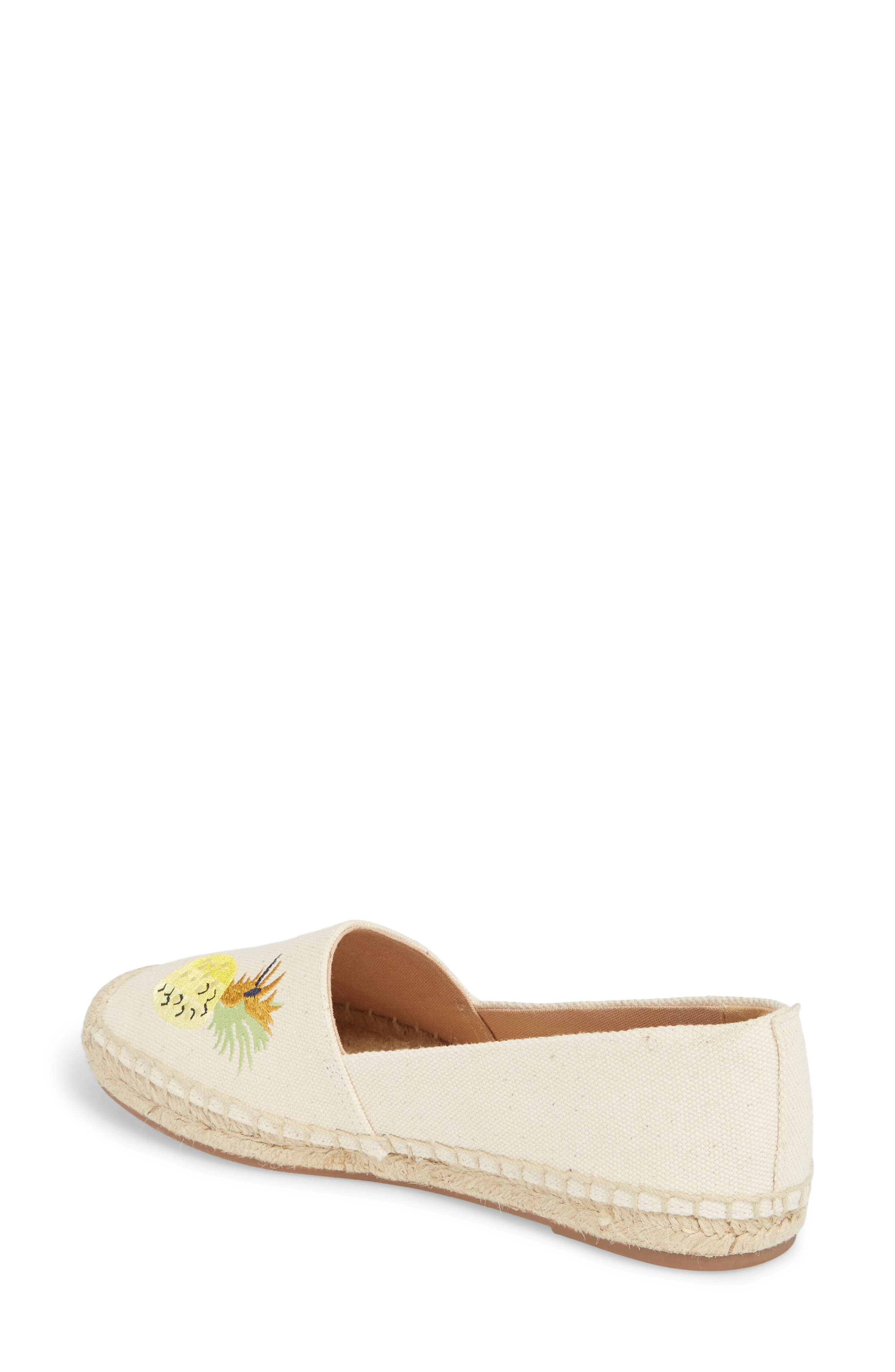 Fruit Salad Embroidered Espadrille,                             Alternate thumbnail 2, color,                             Sundried Linen