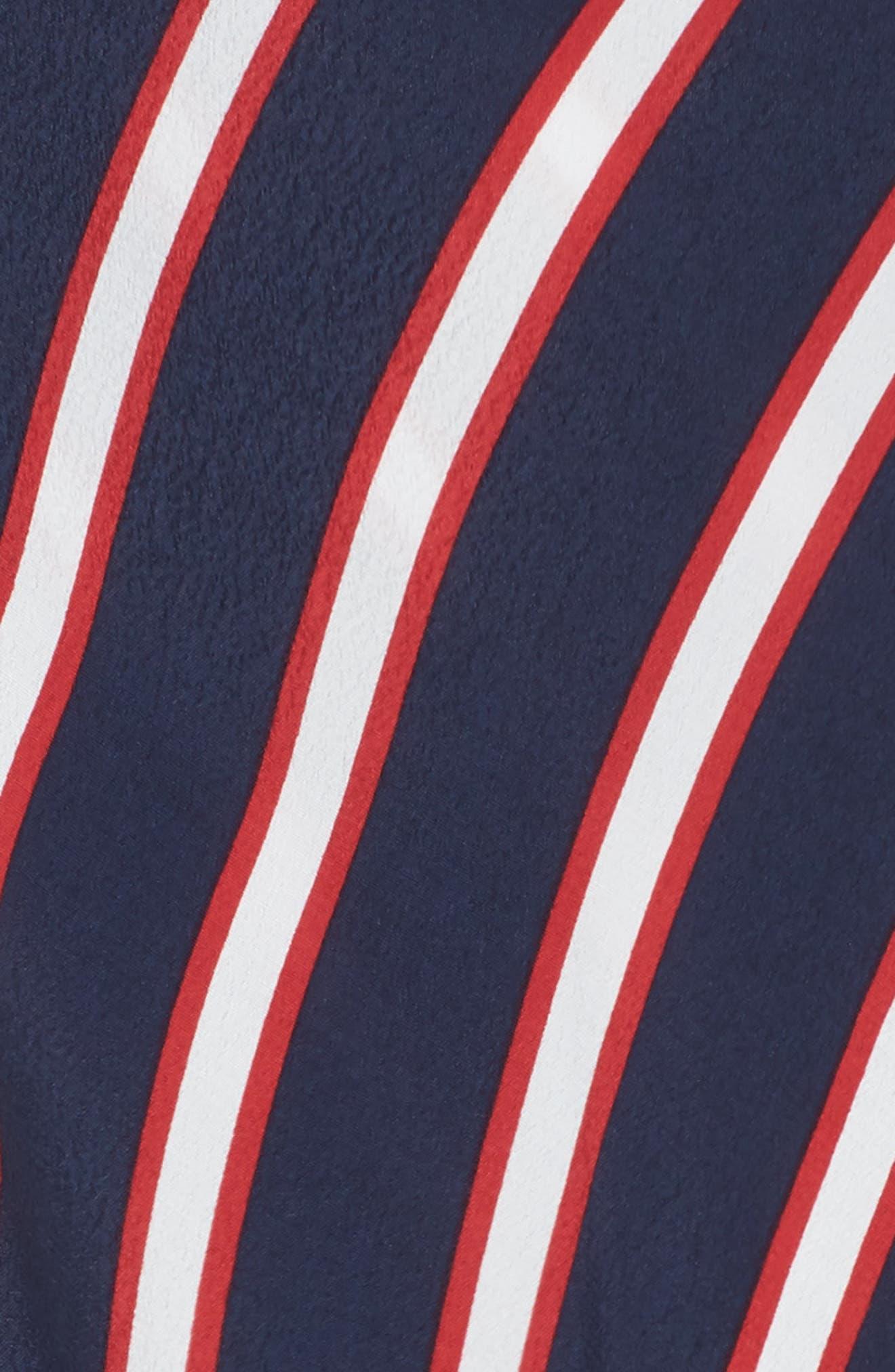 Stripe Midi Wrap Skirt,                             Alternate thumbnail 5, color,                             Navy Peacoat Awning Stripe