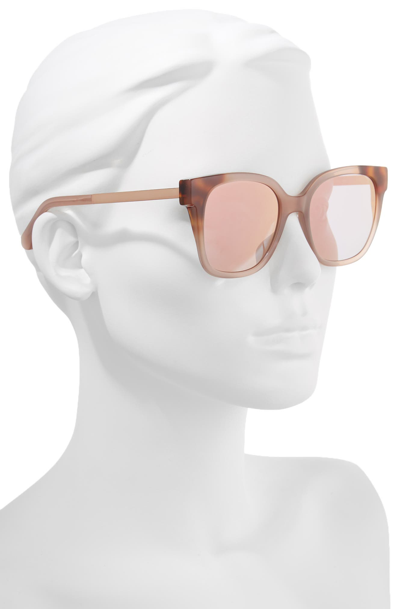 caelyns basic 52mm sunglasses,                             Alternate thumbnail 2, color,                             Nude/ Havana/ Honey