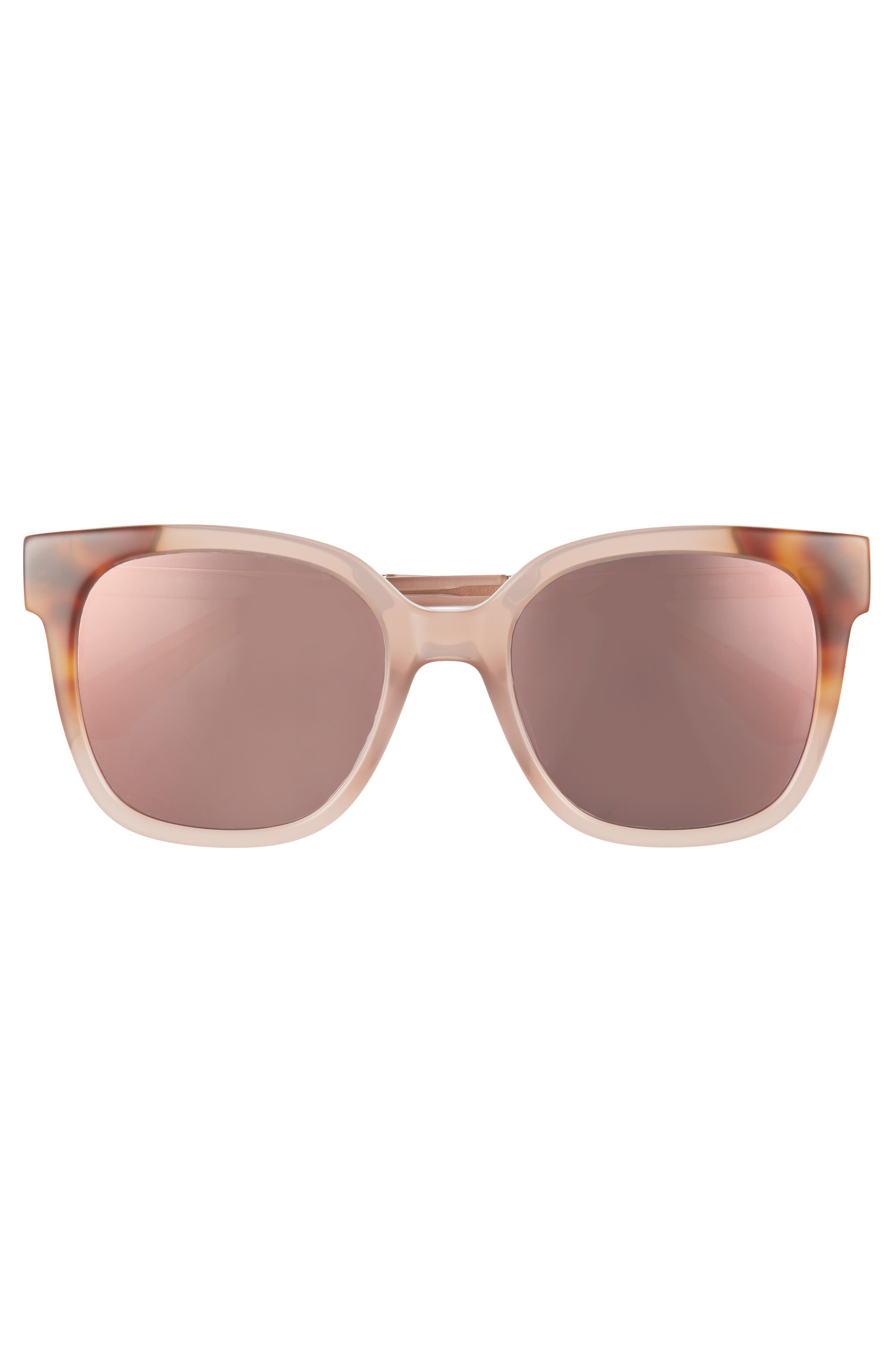 caelyns basic 52mm sunglasses,                             Alternate thumbnail 3, color,                             Nude/ Havana/ Honey