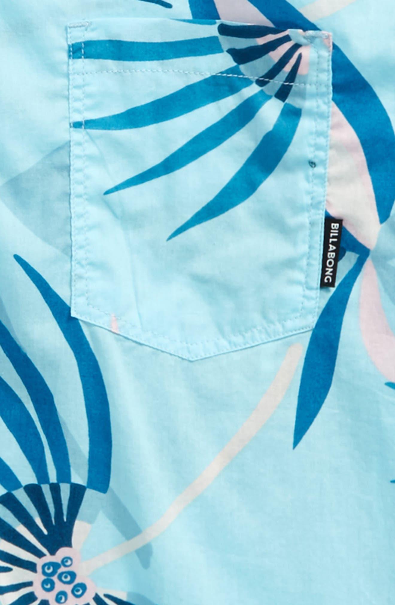 Sunday Floral Woven Shirt,                             Alternate thumbnail 2, color,                             Blue