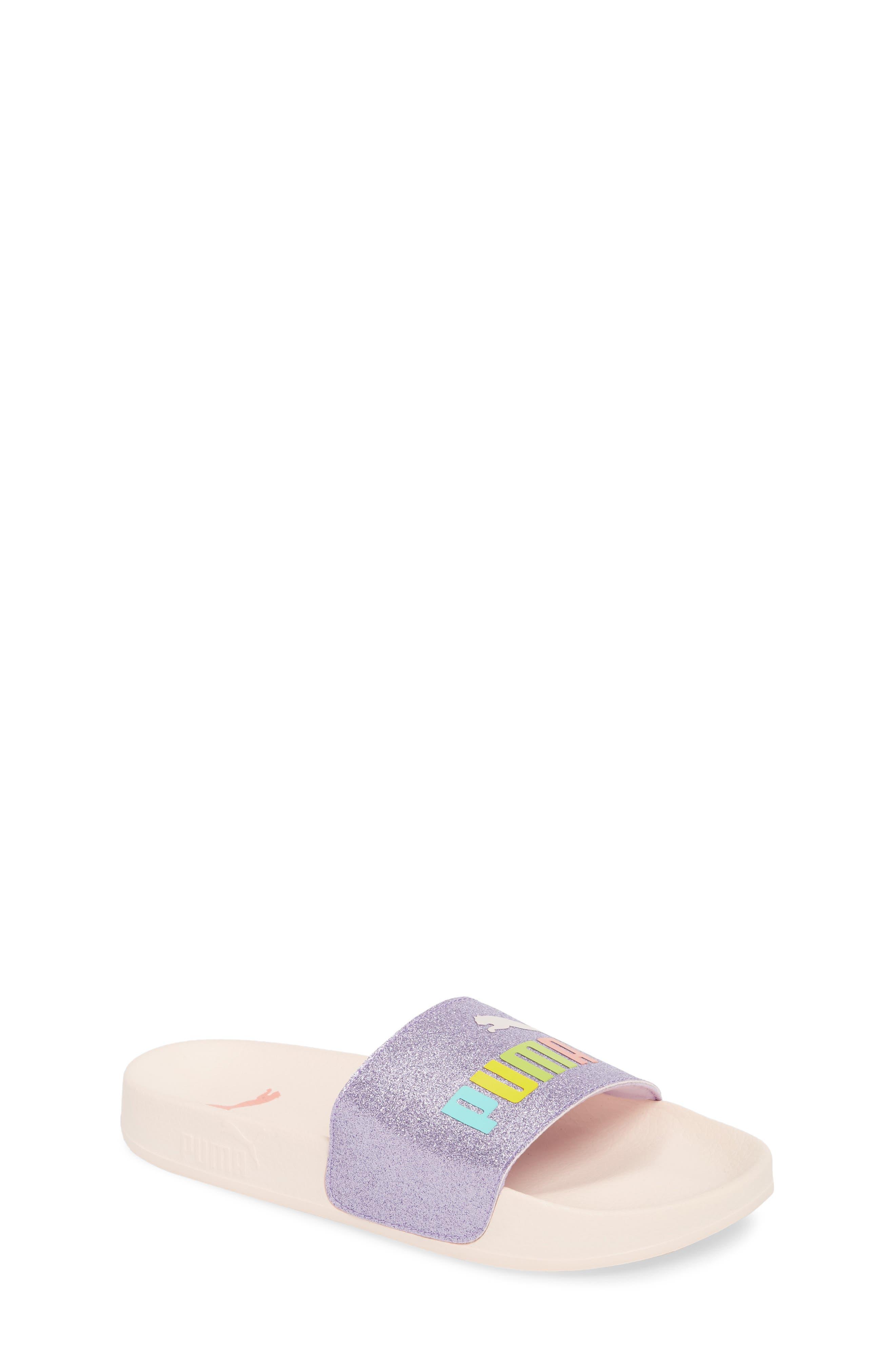 Leadcat Glitz Sport Slide,                             Main thumbnail 1, color,                             Purple Rose/ Pearl