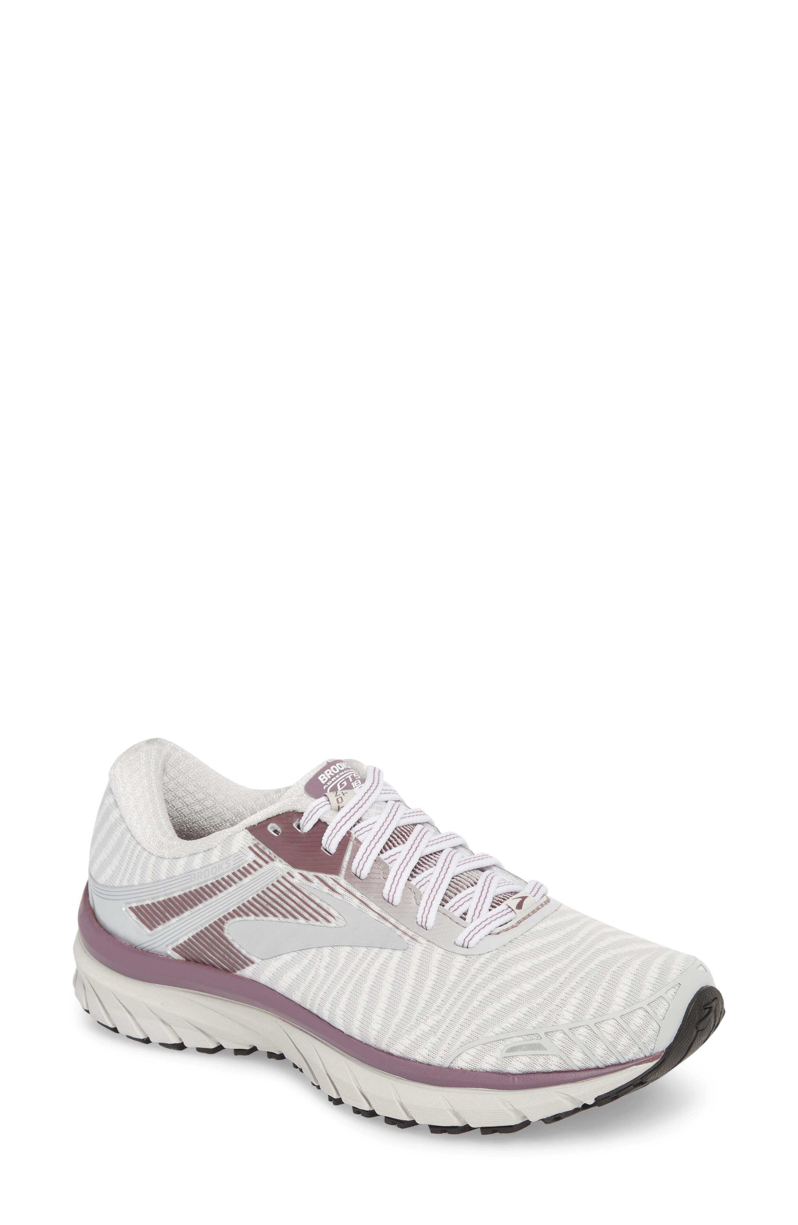 Adrenaline GTS 18 Running Shoe,                             Main thumbnail 1, color,                             White/ Purple/ Grey