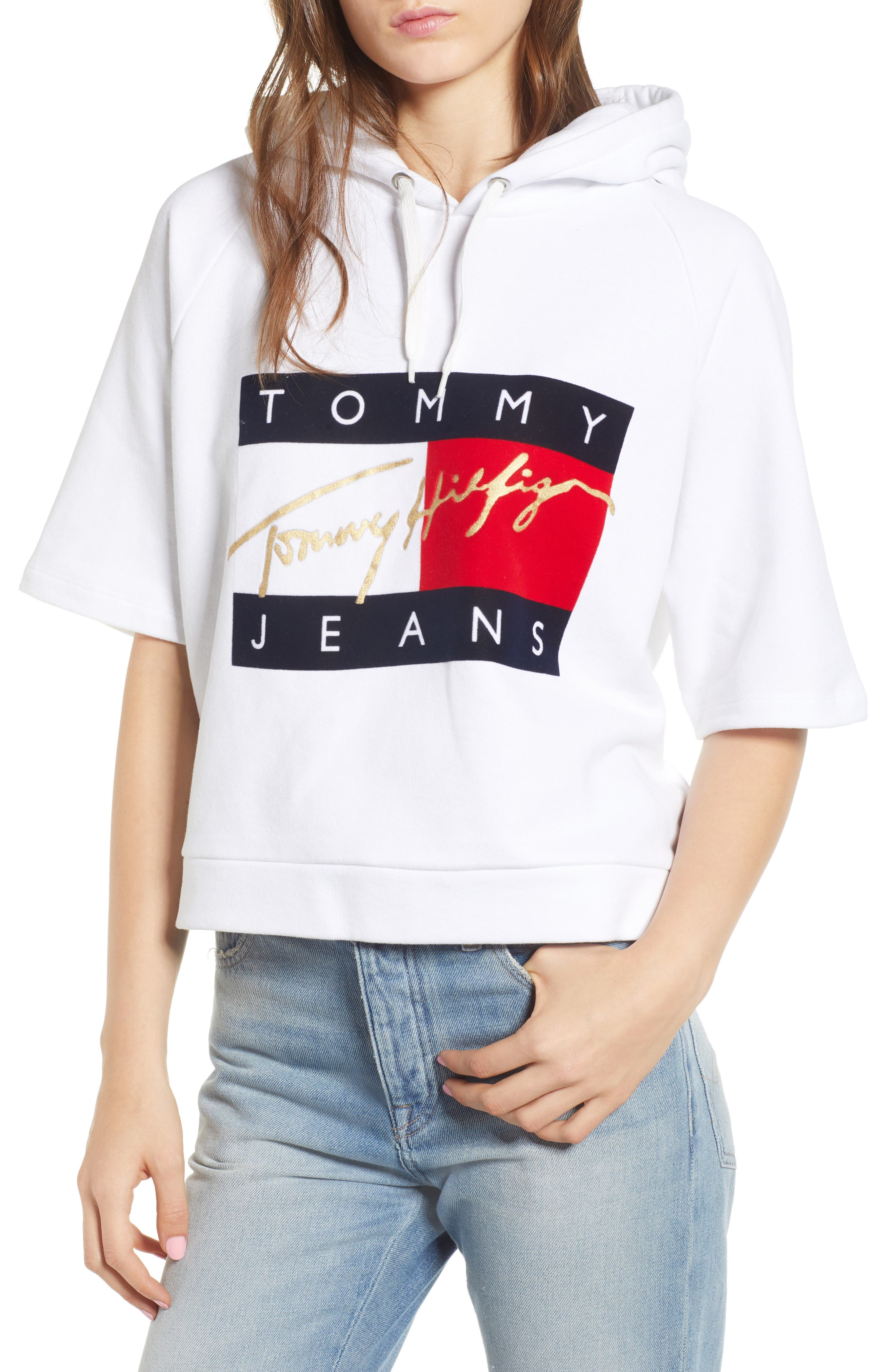 Logo Short Sleeve Hoodie by Tommy Jeans
