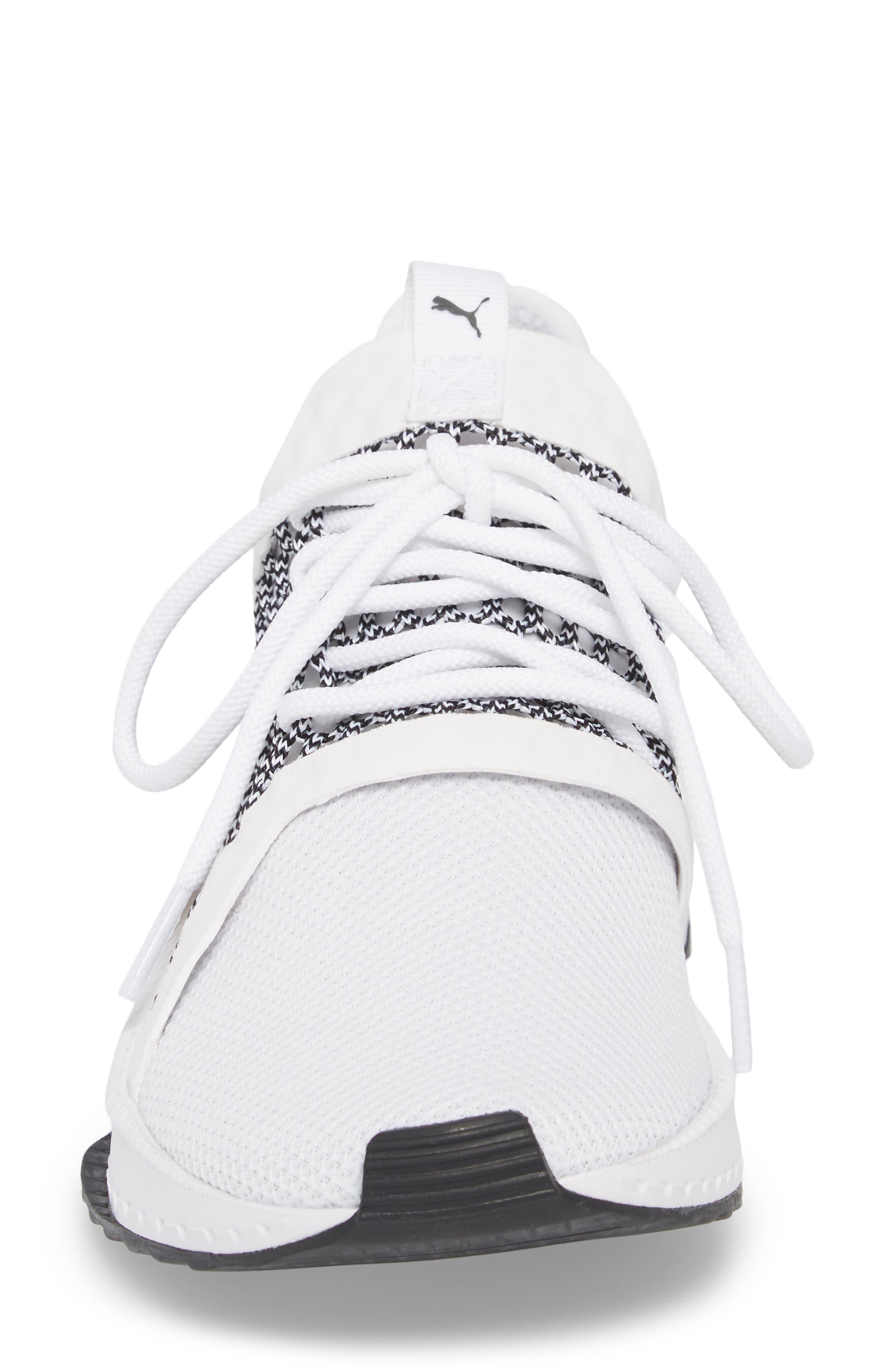 Tsugi Netfit evoKNIT Training Shoe,                             Alternate thumbnail 4, color,                             White/ Black