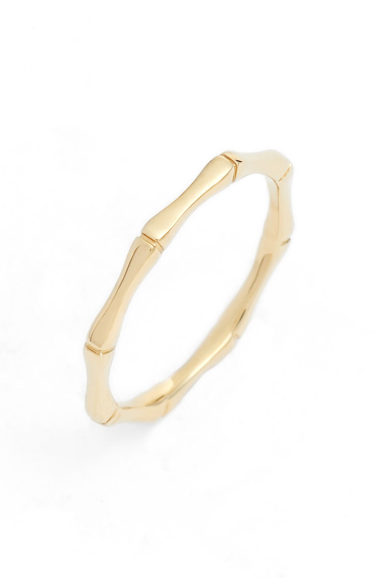 Octagon Stacking Ring,                         Main,                         color, Yellow Gold