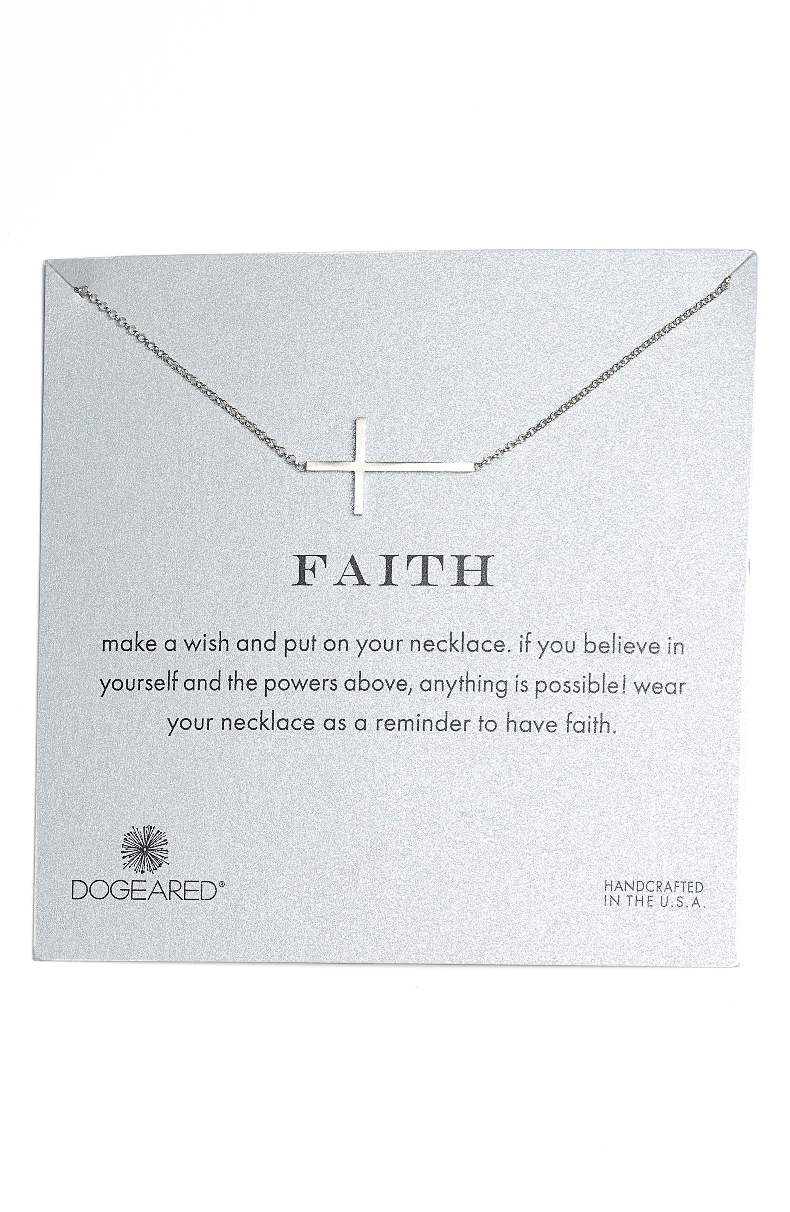 Faith Necklace,                         Main,                         color, Silver
