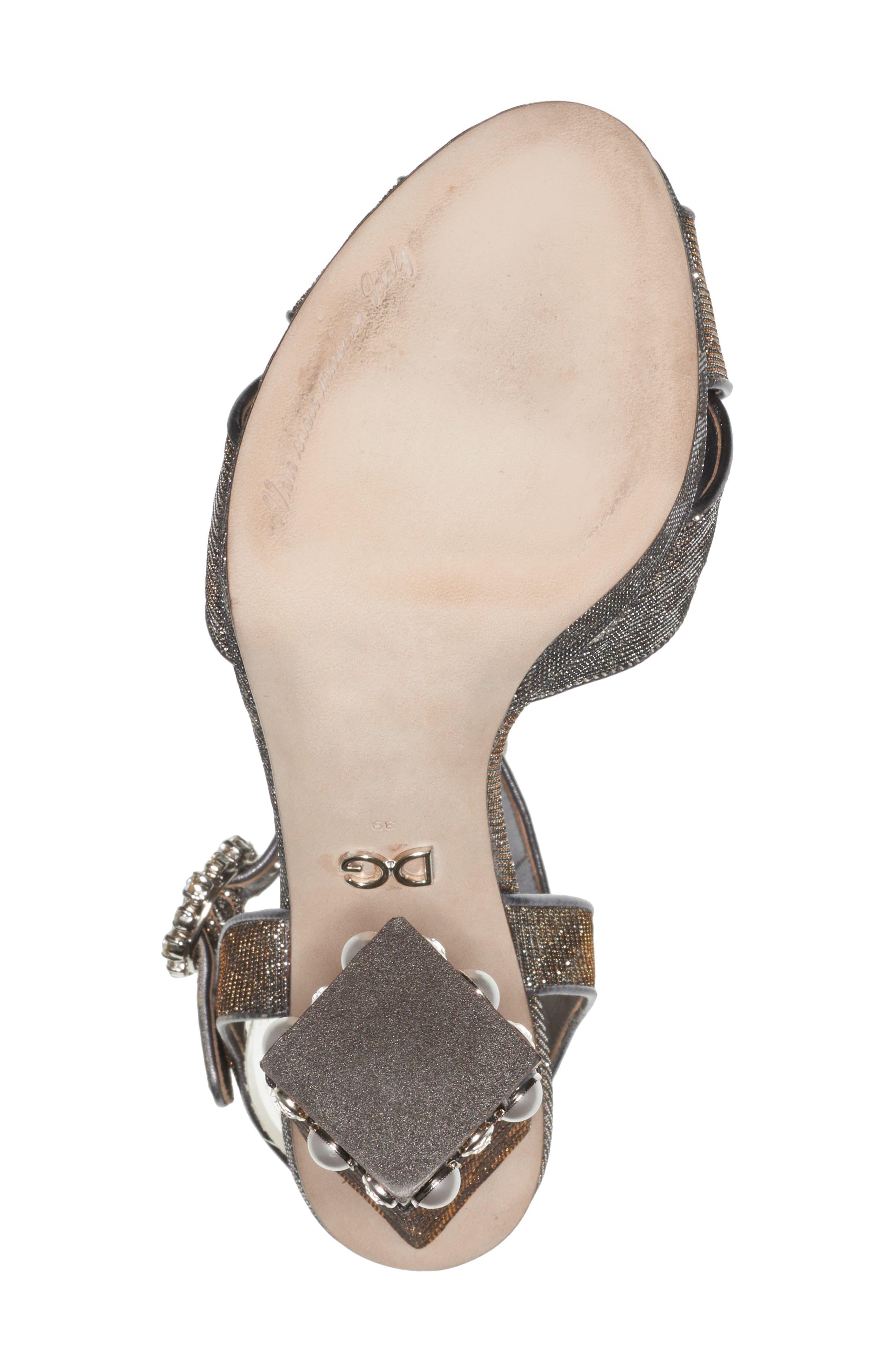 Alternate Image 6  - Dolce&Gabbana Metallic Leopard Print Sandal (Women)