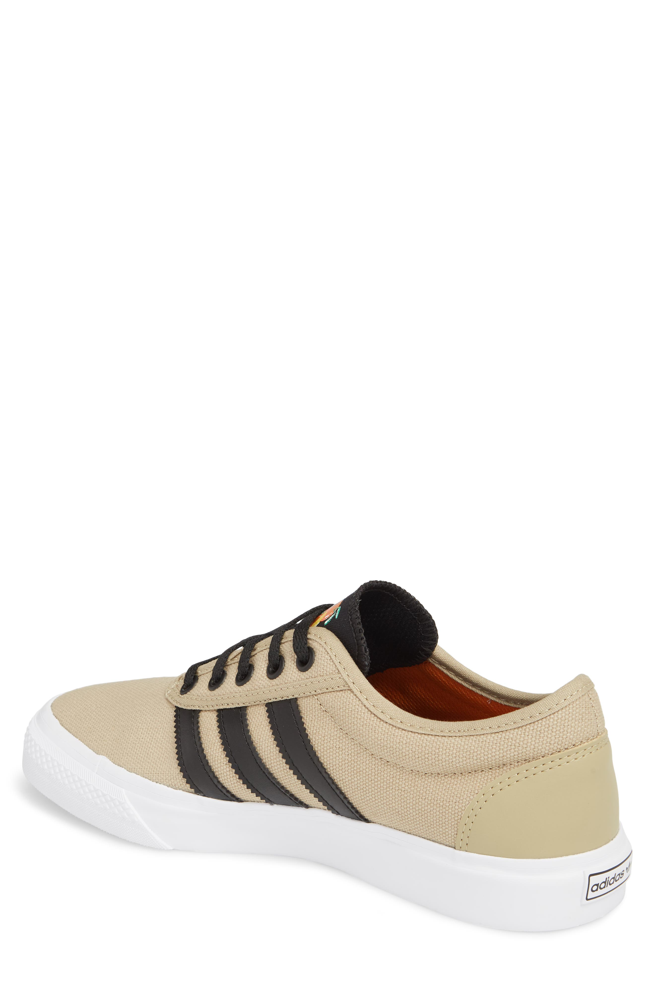 Adiease Premiere Skateboarding Sneaker,                             Alternate thumbnail 2, color,                             Gold/ Core Black/ White