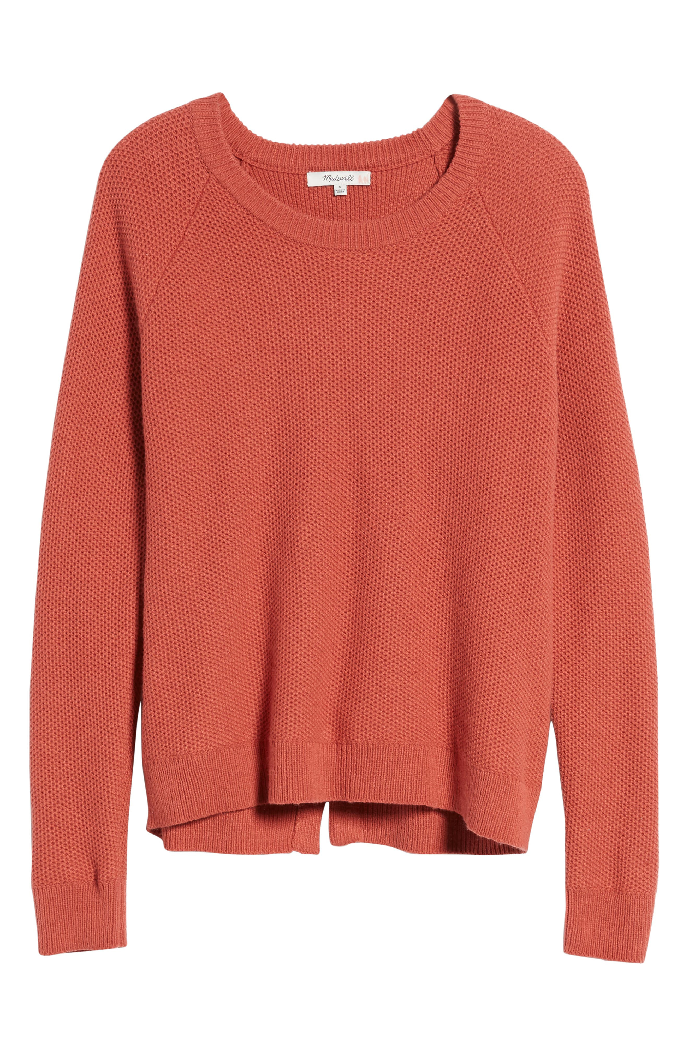 Province Cross Back Knit Pullover,                             Alternate thumbnail 7, color,                             Spiced Rose