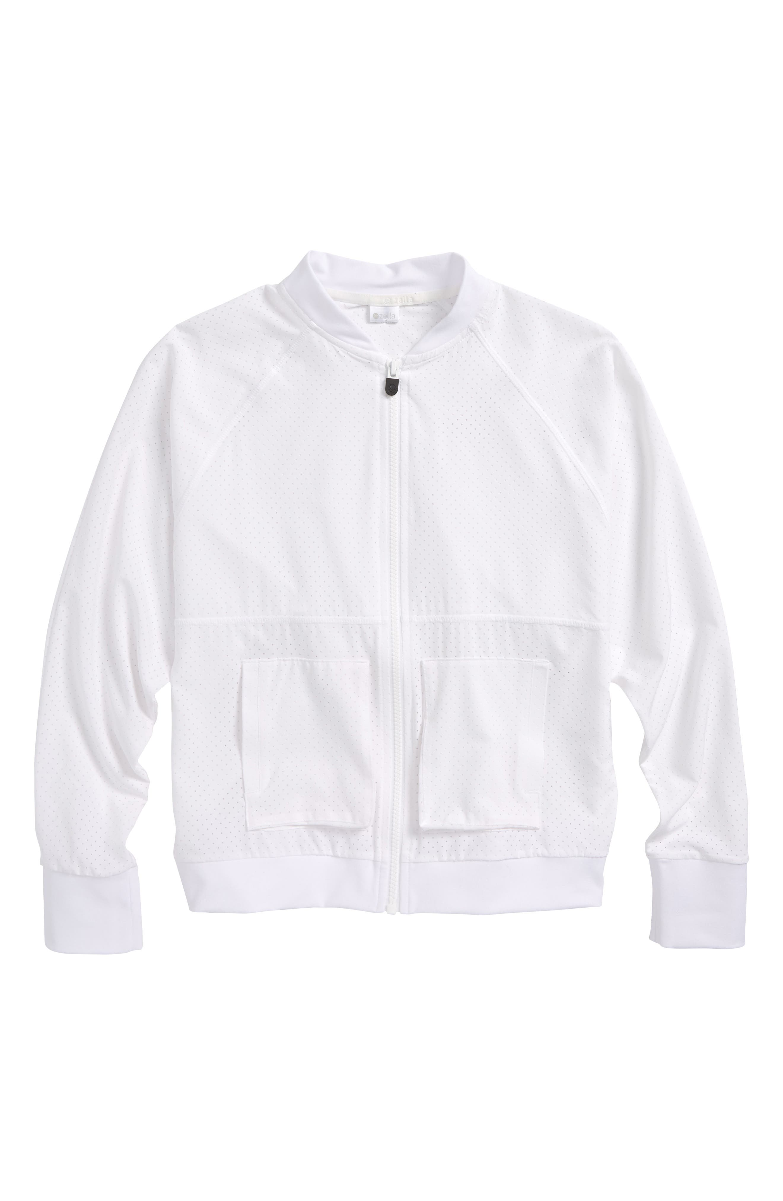 Zella Girl Batwing Bomber Jacket (Little Girls & Big Girls)