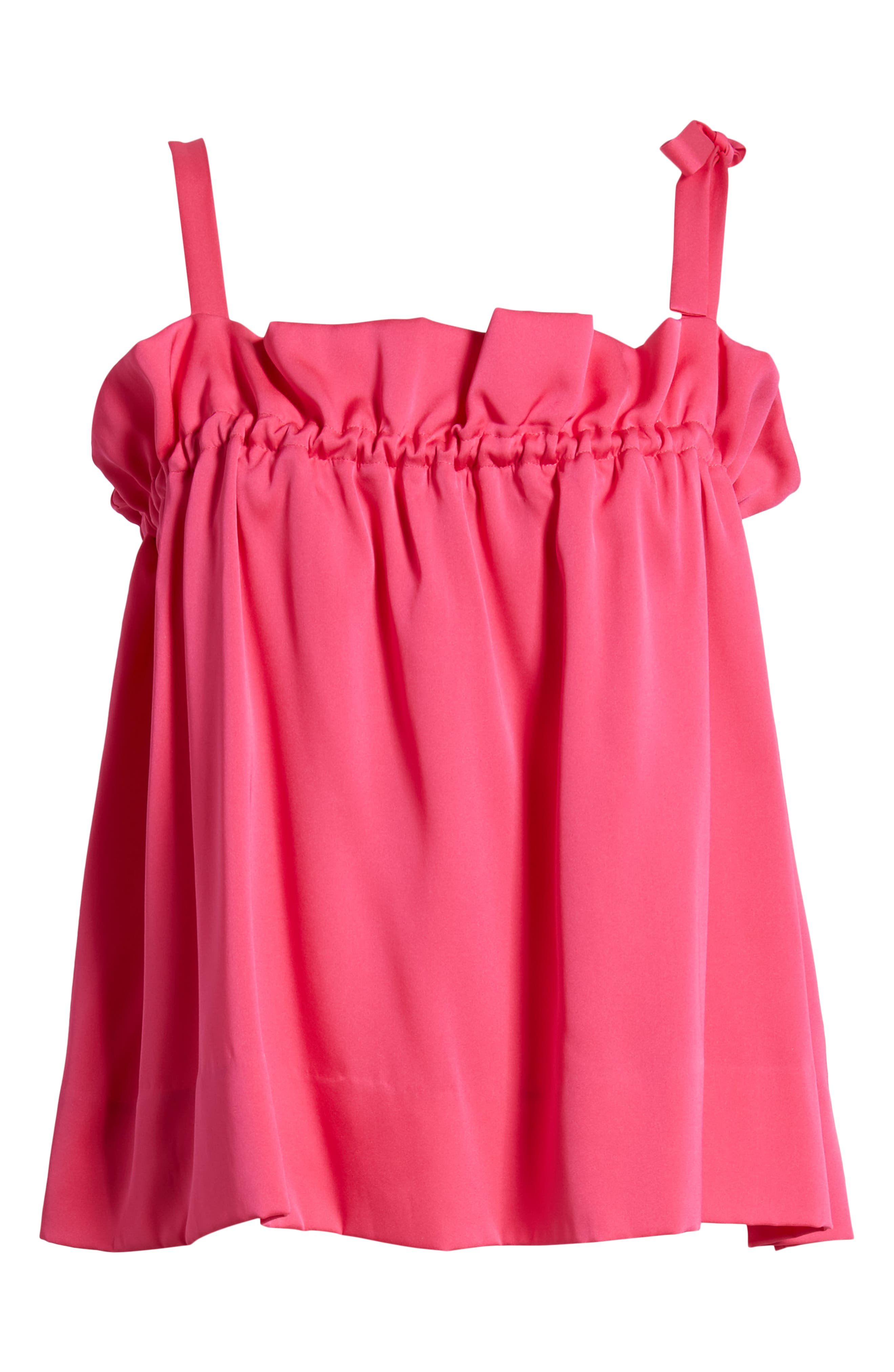 Tie Strap Stretch Silk Camisole,                             Alternate thumbnail 7, color,                             Pink Beetroot