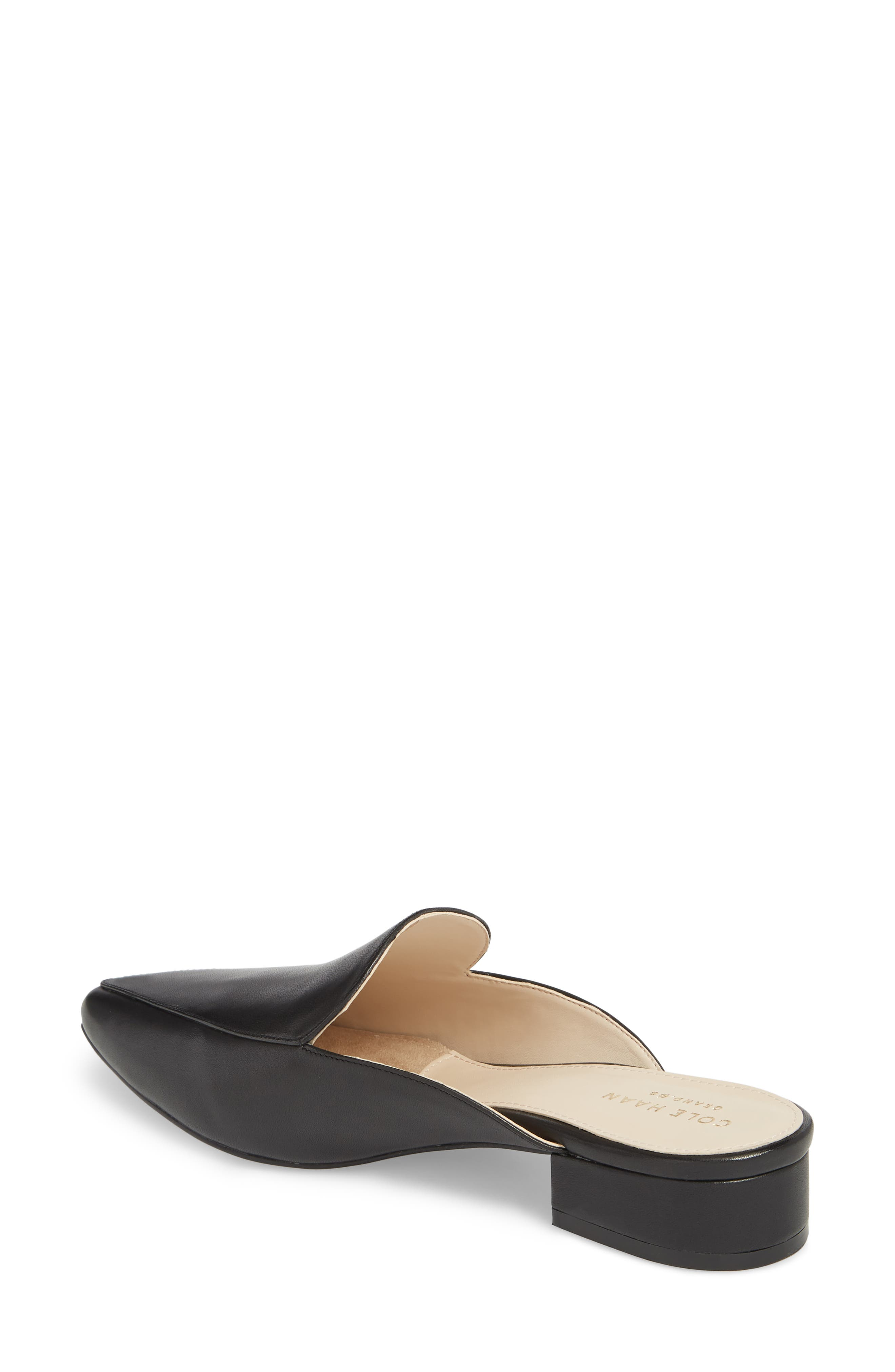 Piper Loafer Mule,                             Alternate thumbnail 2, color,                             Black Leather