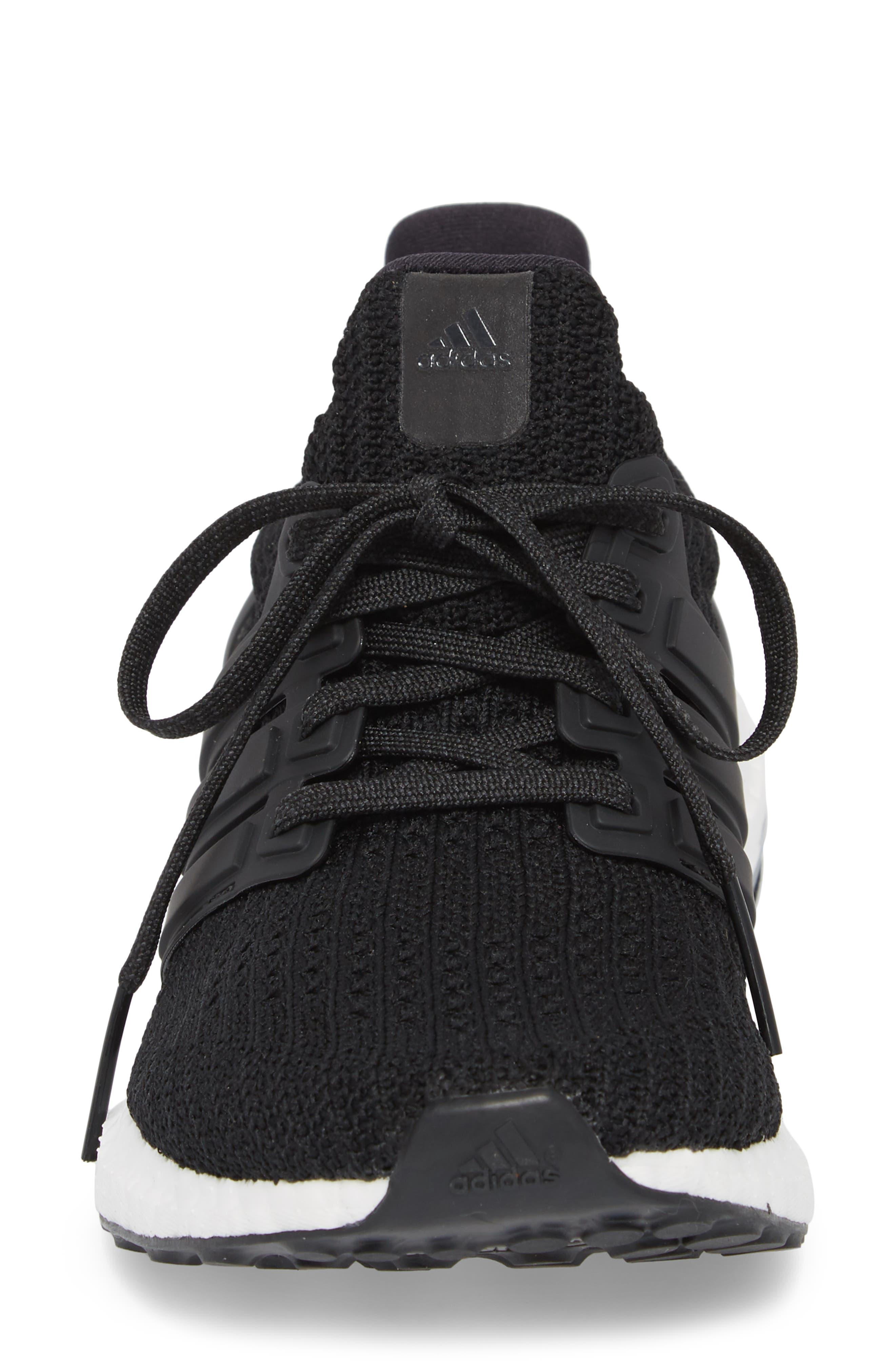 'UltraBoost' Running Shoe,                             Alternate thumbnail 4, color,                             Core Black/ Core Black
