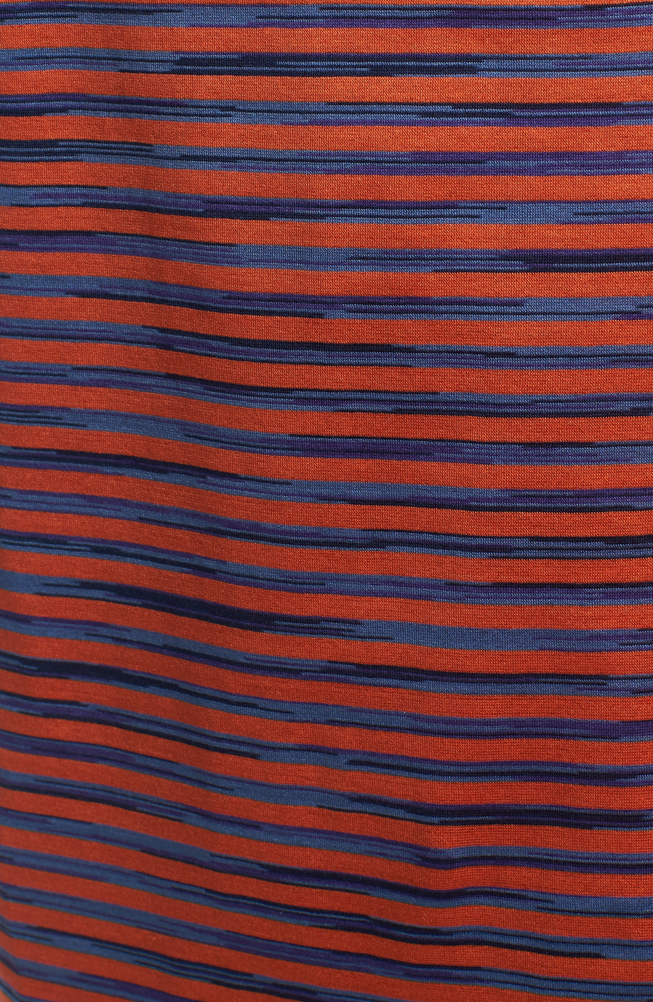 Stripe Knit Polo,                             Alternate thumbnail 5, color,                             Tangerine