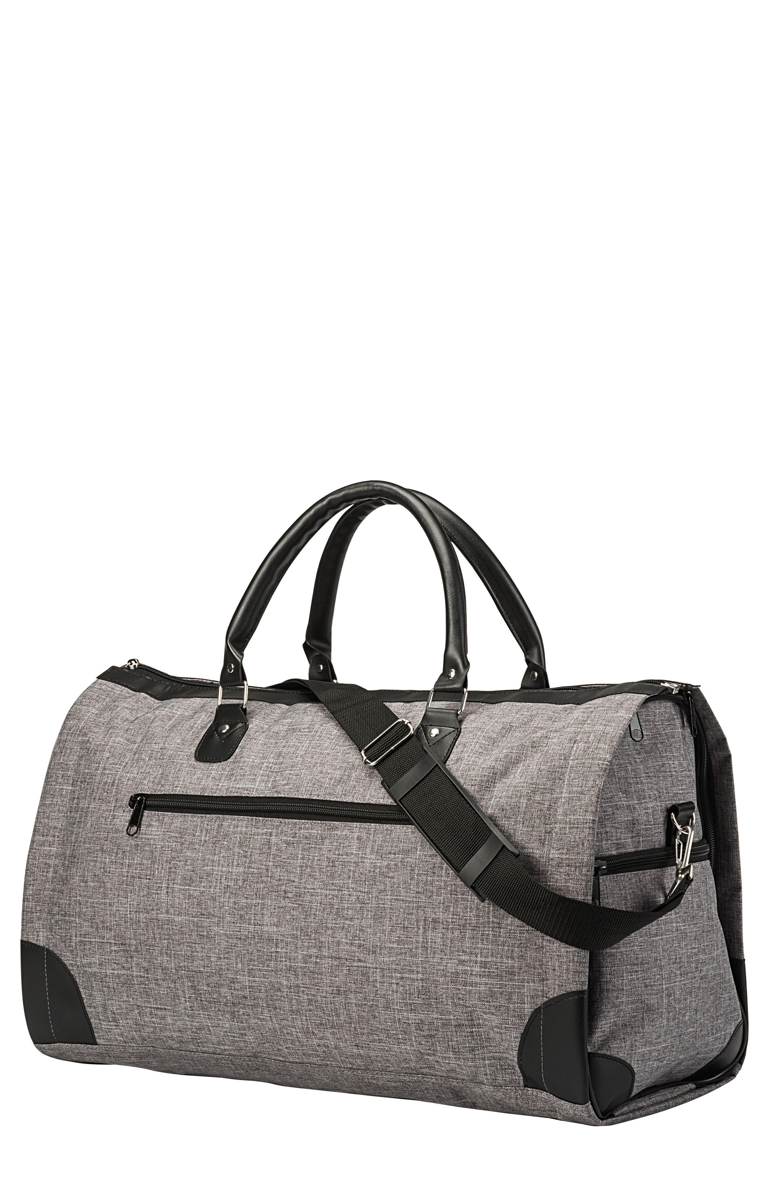 Monogram Duffel/Garment Bag,                         Main,                         color, Grey