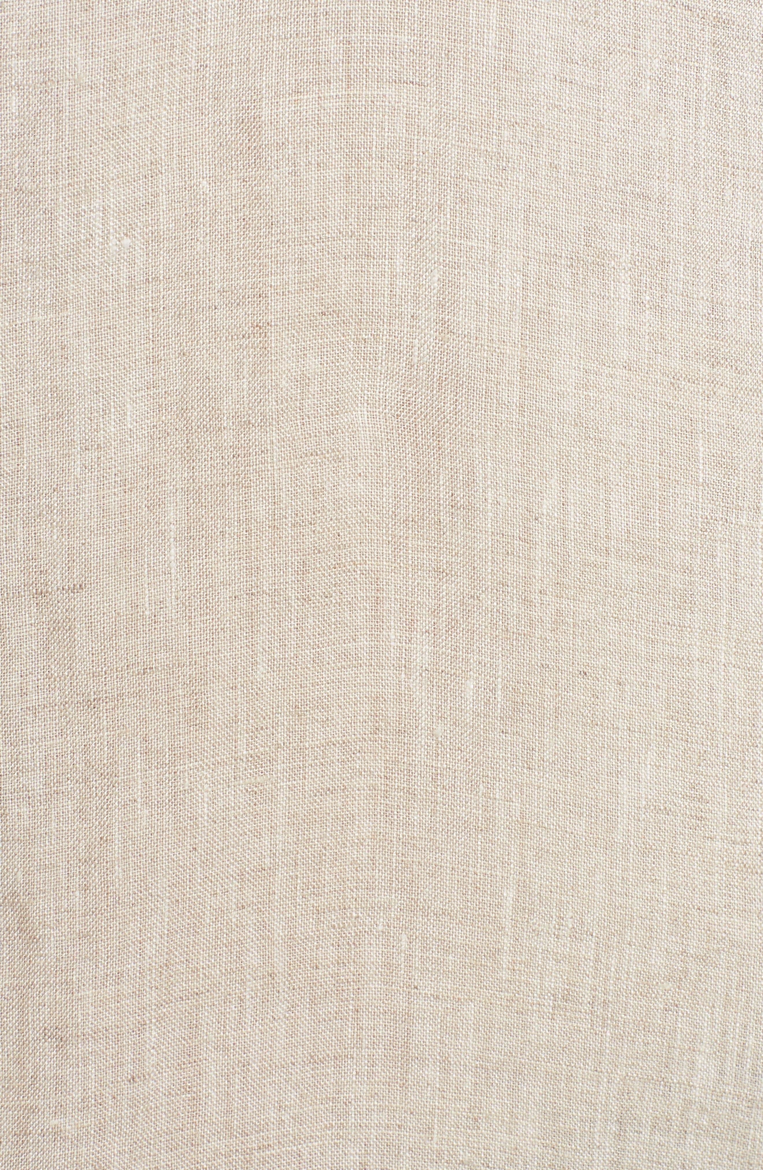 Organic Linen Shirt,                             Alternate thumbnail 6, color,                             Natural