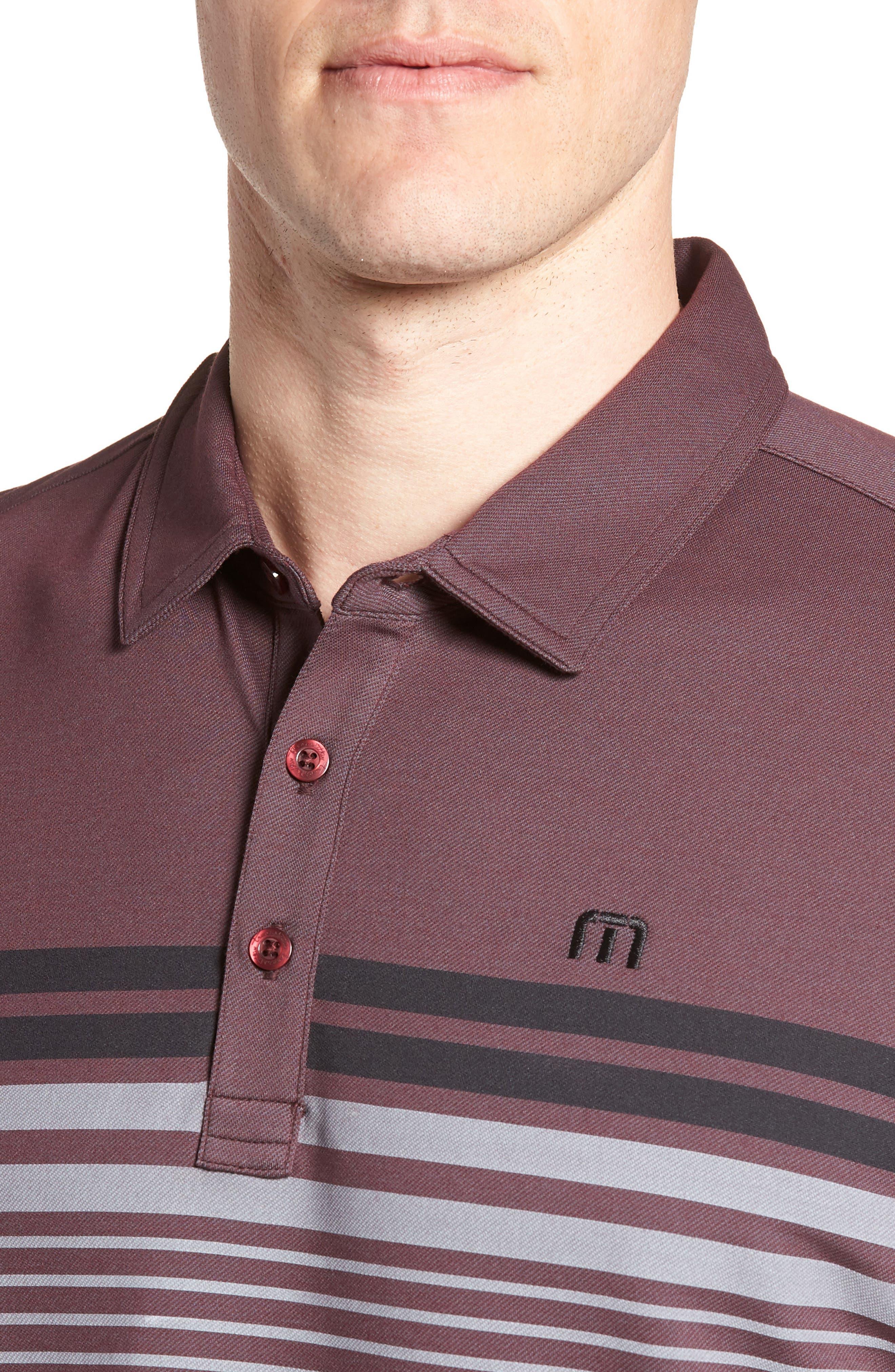 Boomer Polo Shirt,                             Alternate thumbnail 4, color,                             Winetasting