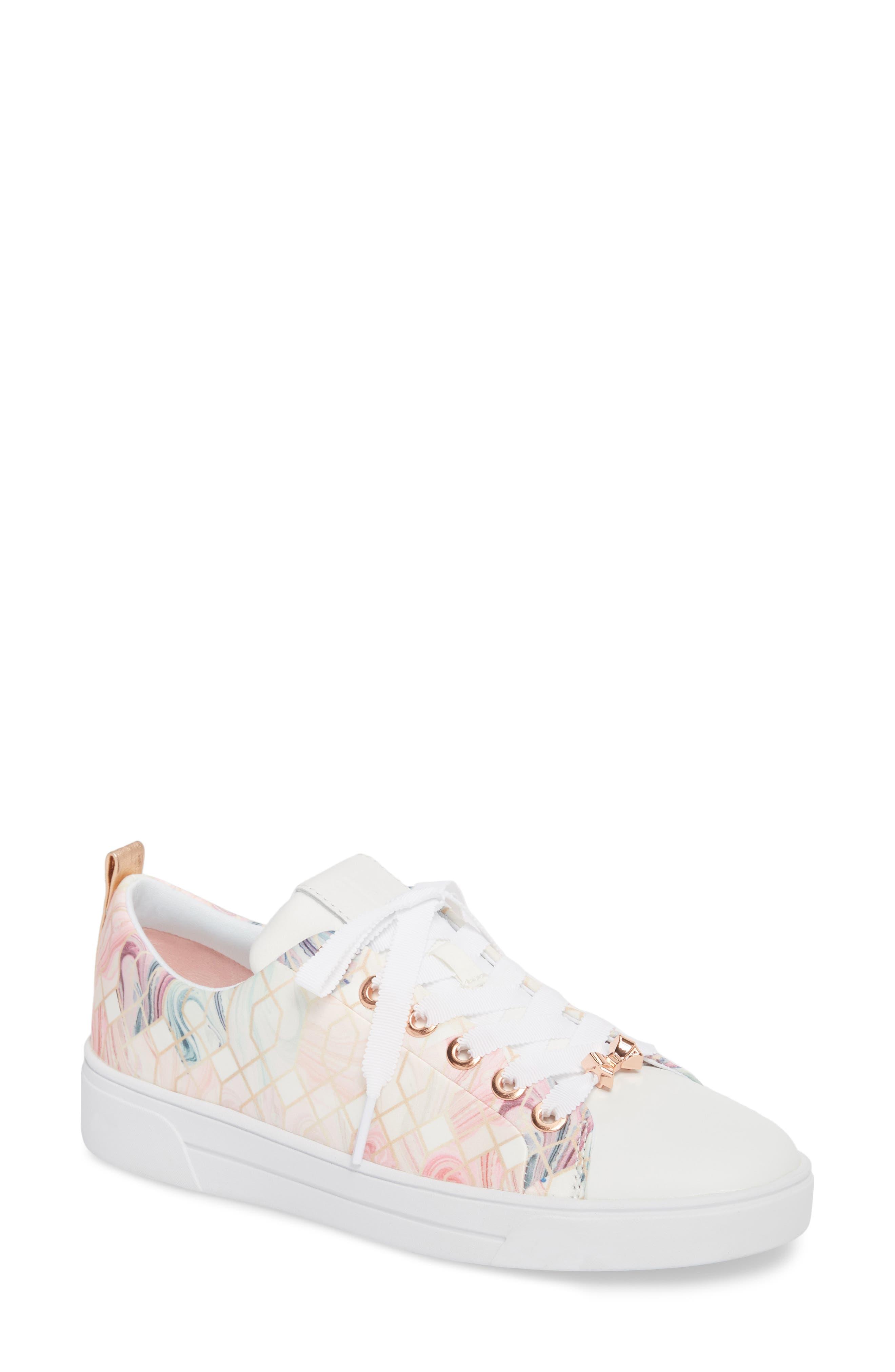 Ahfira Sneaker,                         Main,                         color, Sea Of Clouds Print Fabric