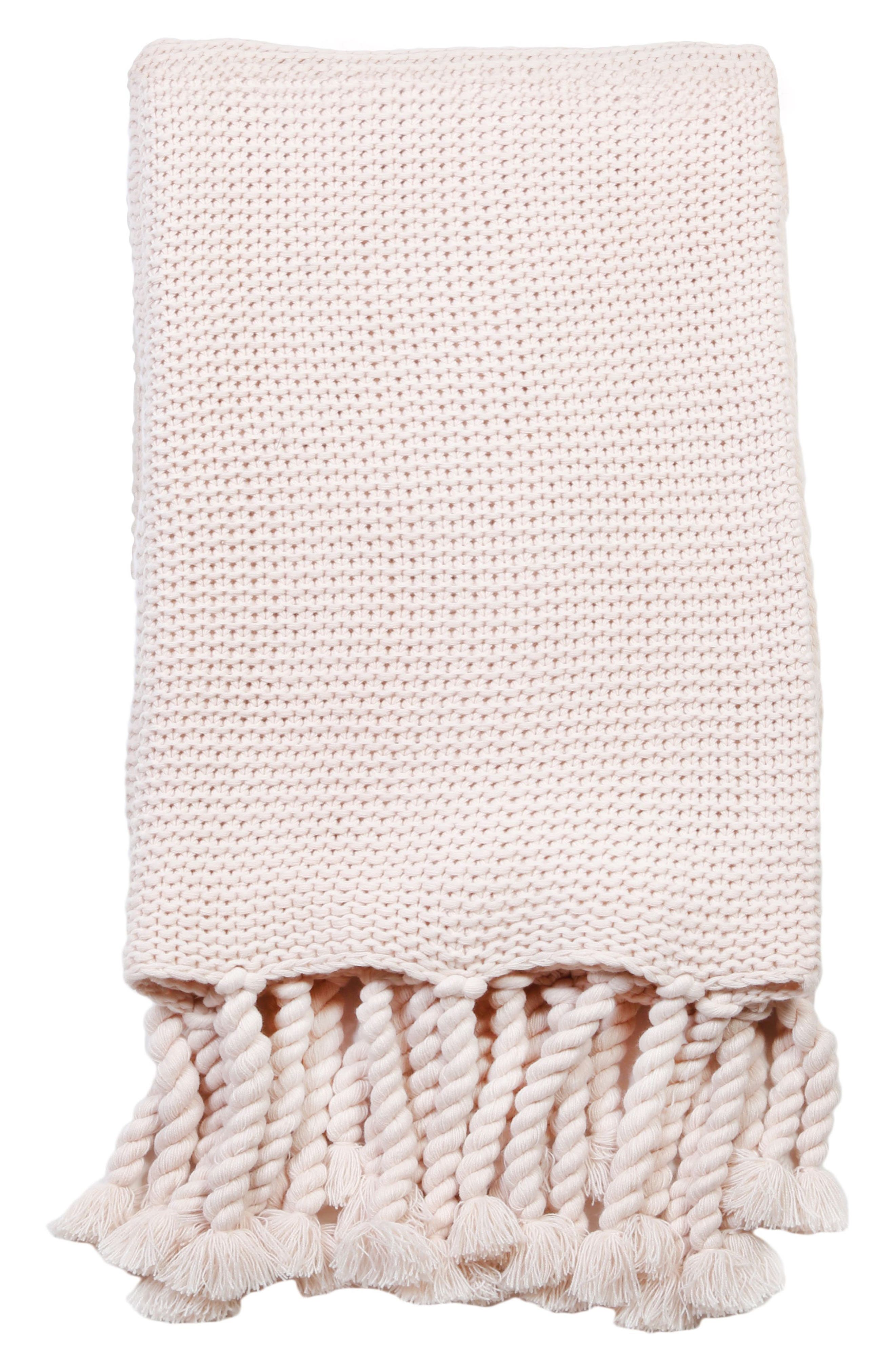Trestles Oversize Throw Blanket,                             Main thumbnail 1, color,                             Blush