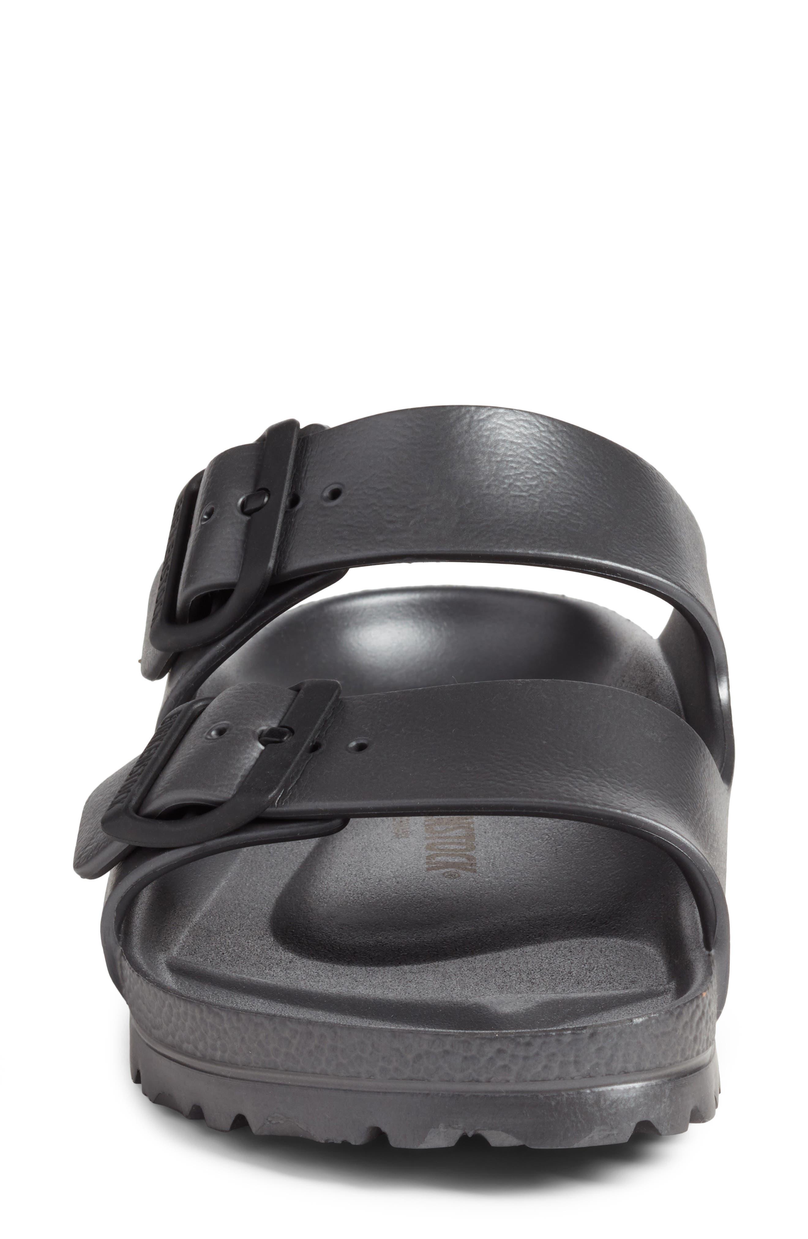 Essentials - Arizona Slide Sandal,                             Alternate thumbnail 4, color,                             Metallic Anthracite