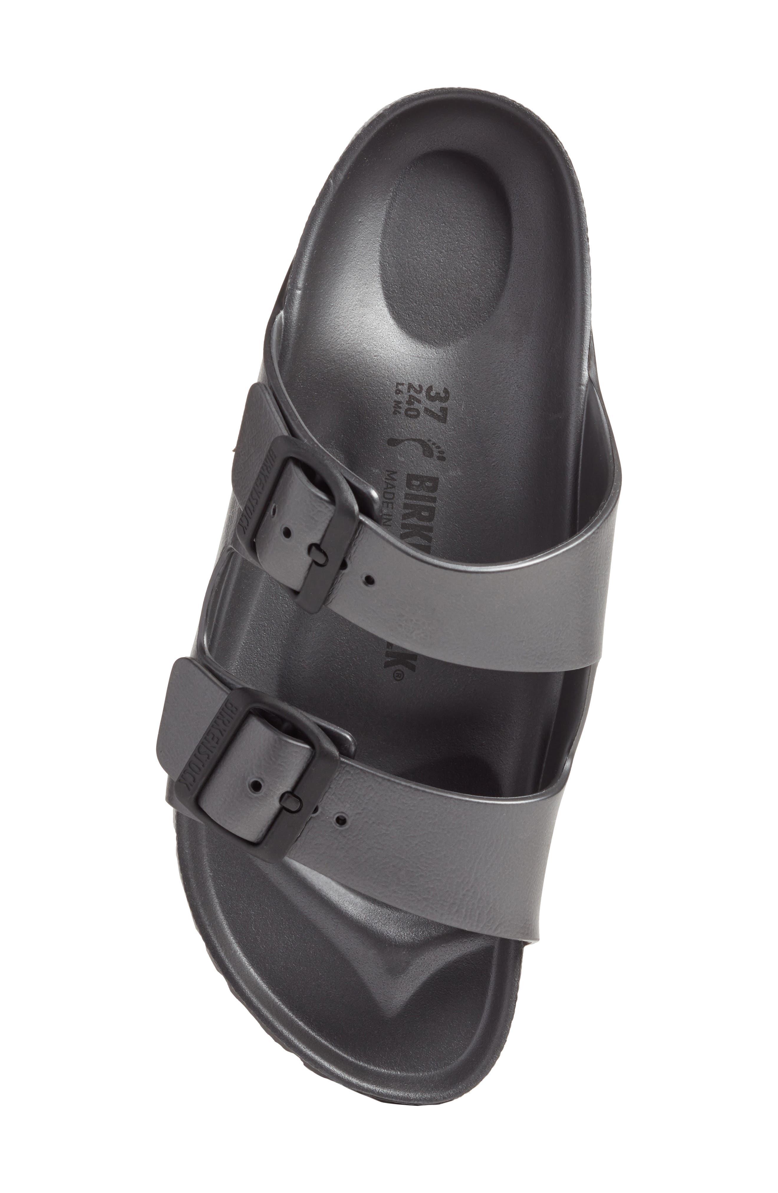Essentials - Arizona Slide Sandal,                             Alternate thumbnail 5, color,                             Metallic Anthracite