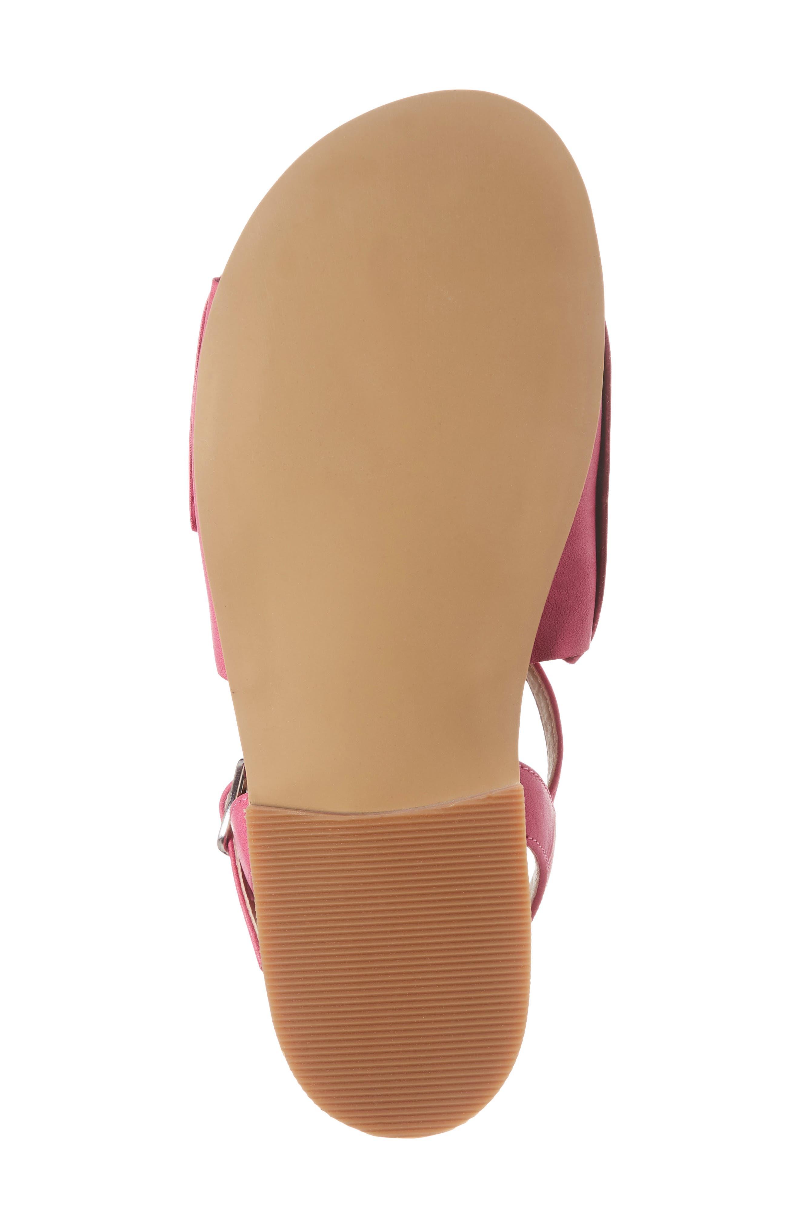 Larissa Knotted Sandal,                             Alternate thumbnail 6, color,                             Fuschia Faux Leather
