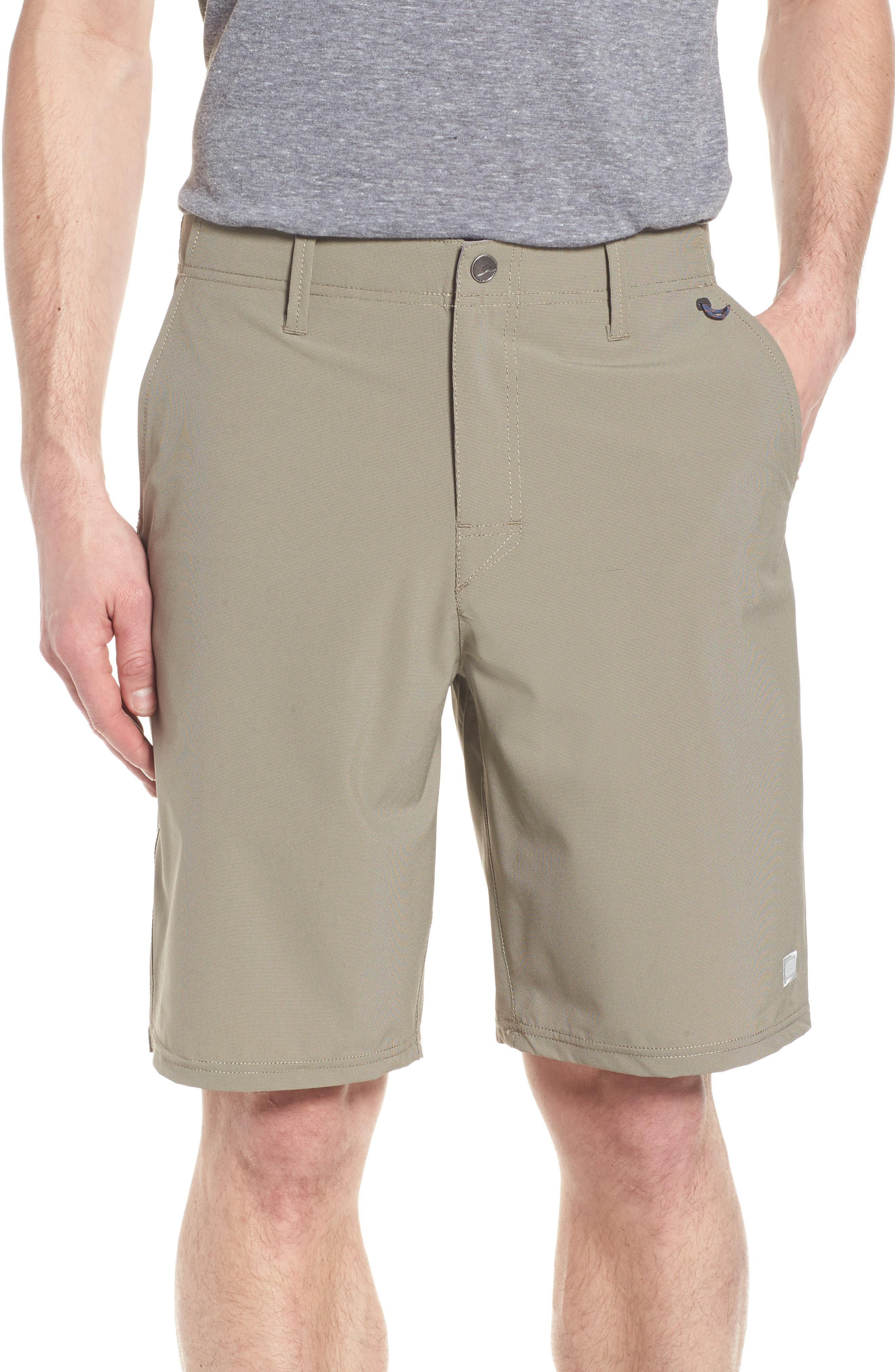 Seaside Hybrid Shorts,                         Main,                         color, Espresso