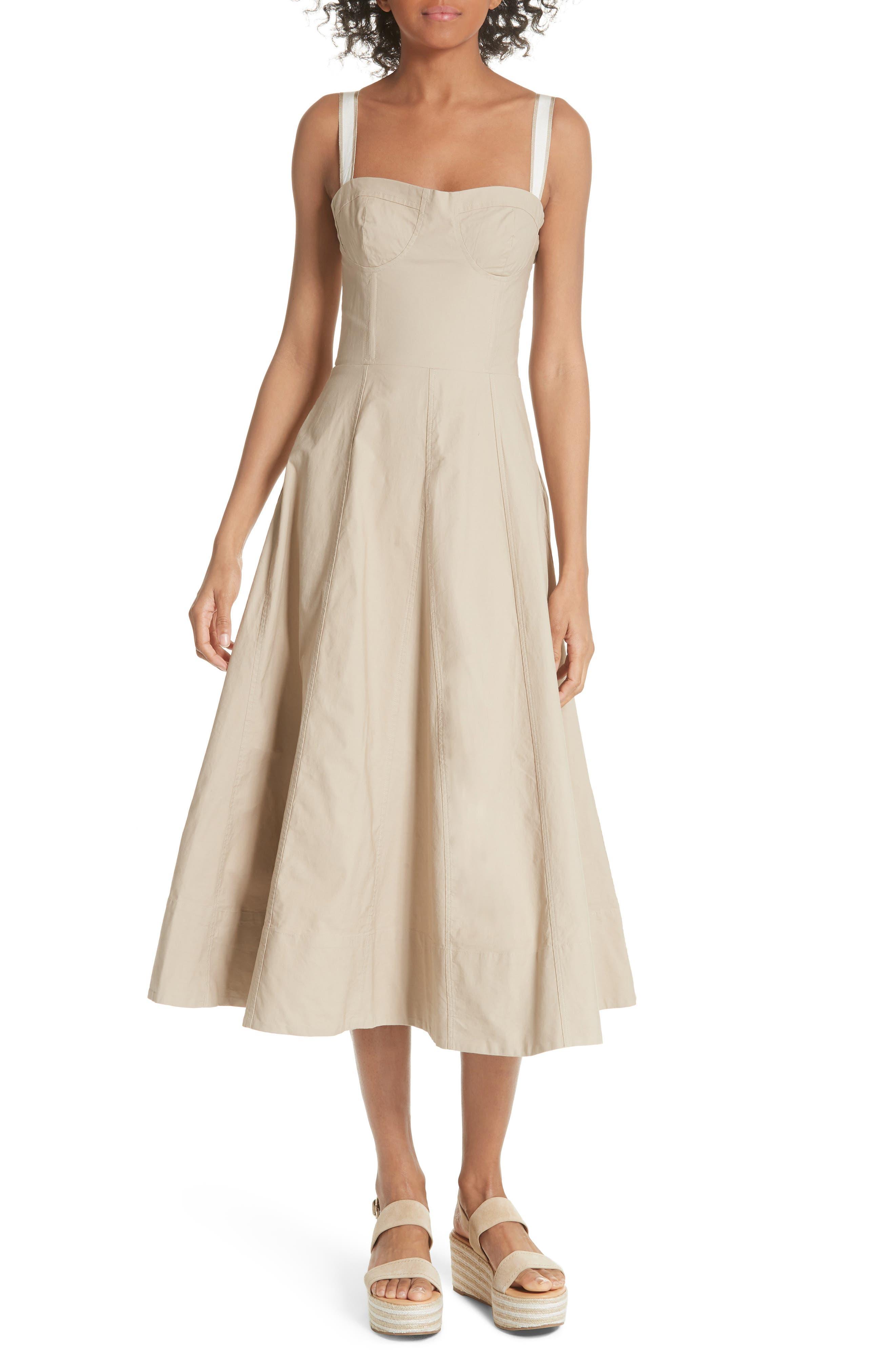 Briel Midi Dress,                             Main thumbnail 1, color,                             Light Sand