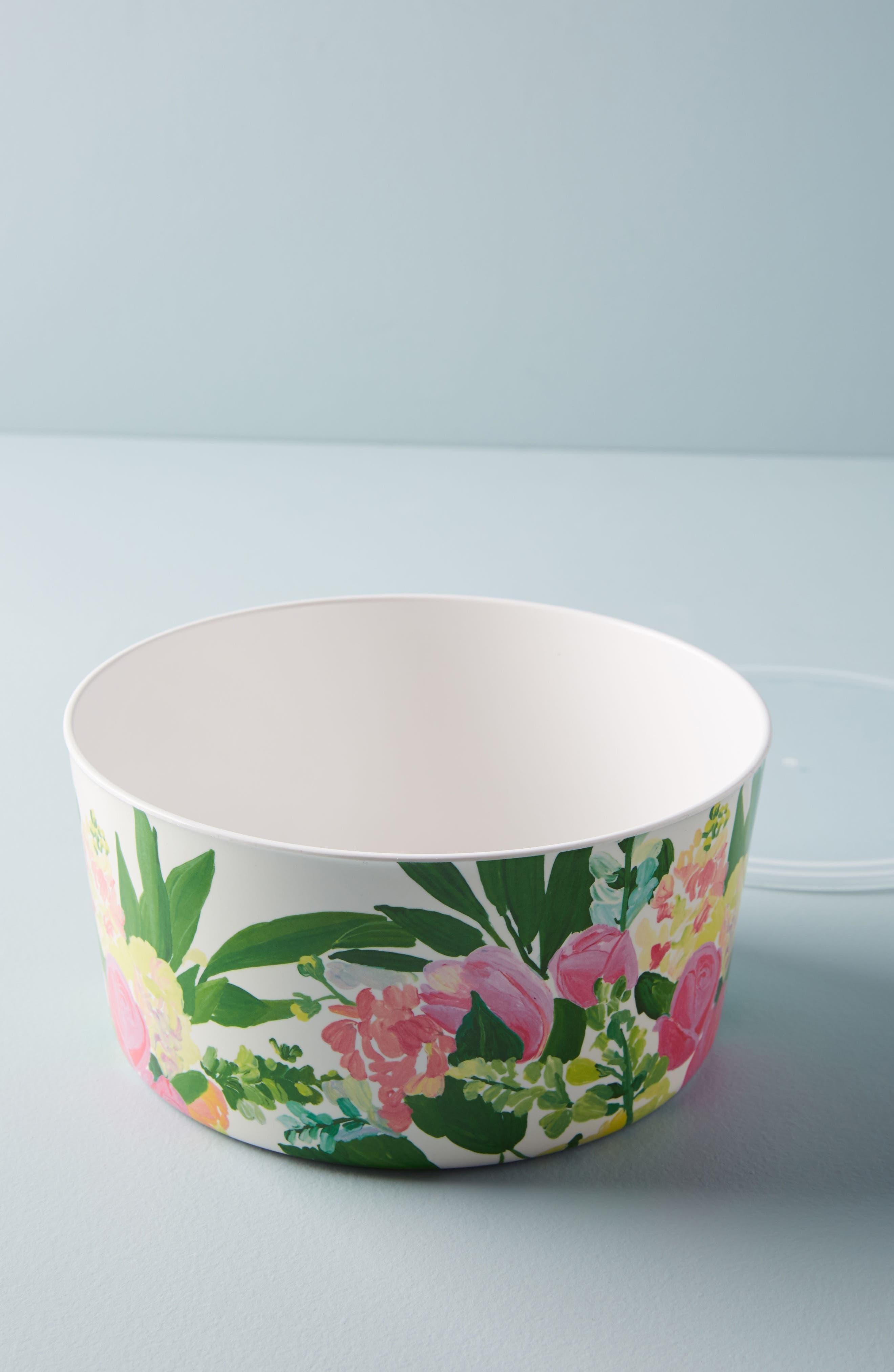 Paint + Petals Melamine Storage Bowl,                         Main,                         color, White Multi