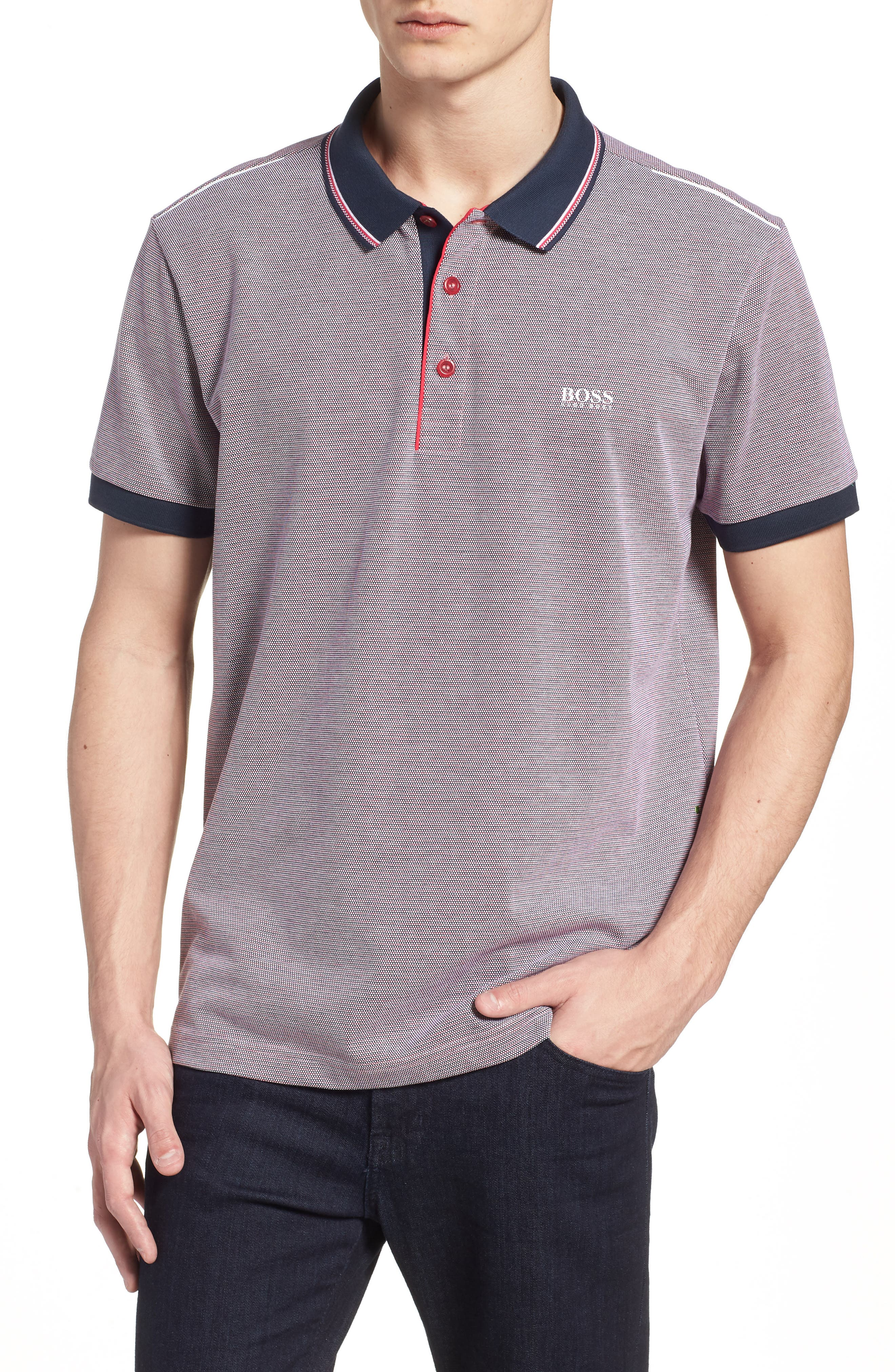 Paddy Regular Fit Polo,                             Main thumbnail 1, color,                             Red