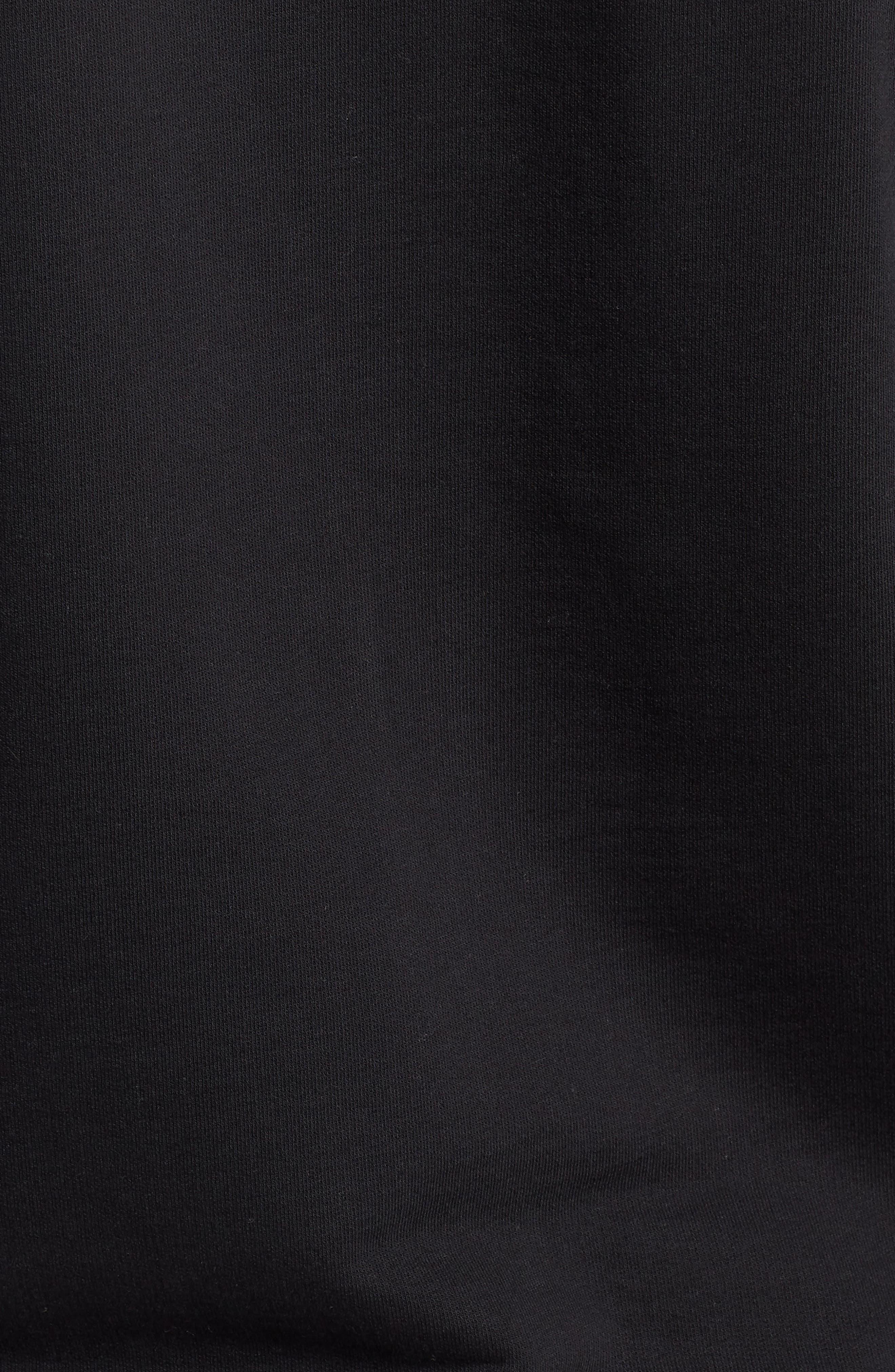 Regular Fit Hooded Fleece Jacket,                             Alternate thumbnail 5, color,                             Black