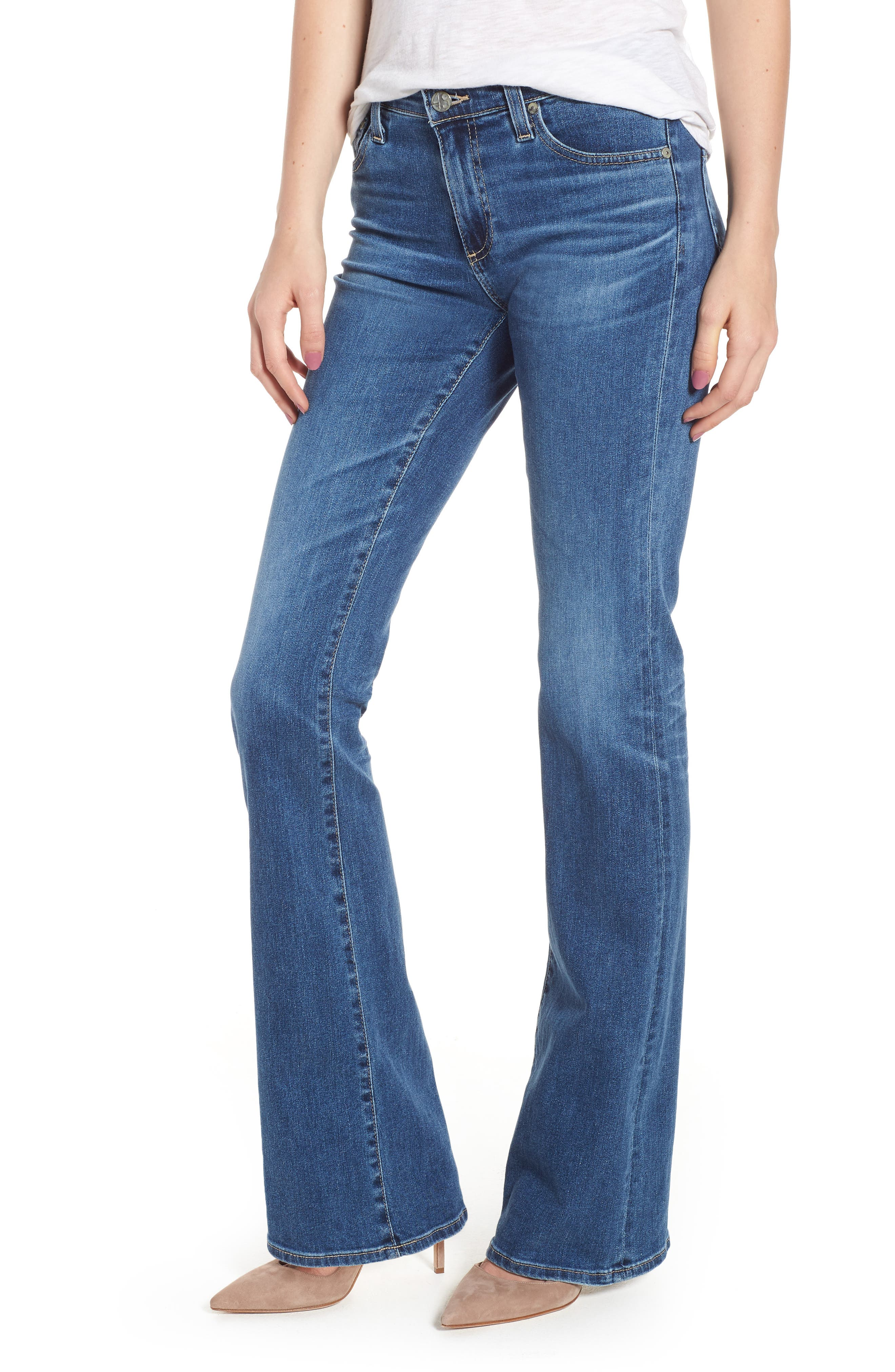 Main Image - AG Angel Flare Jeans (10 Years Cambria)