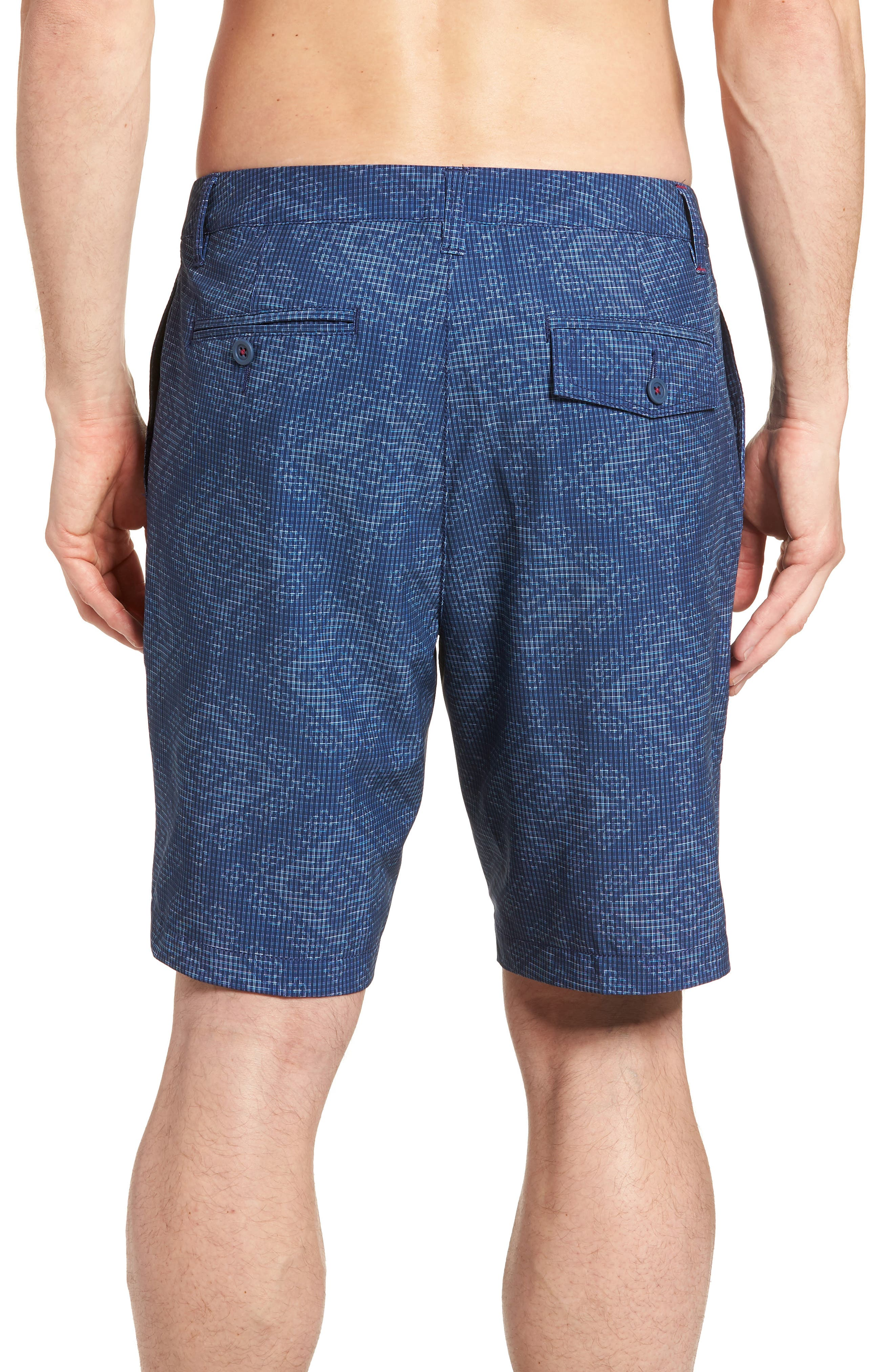 Cayman Geo de Mayo Swim Trunks,                             Alternate thumbnail 2, color,                             Throne Blue
