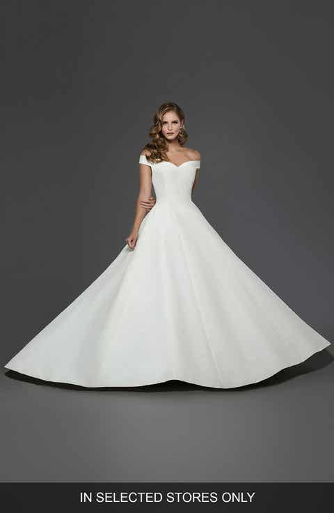 Matthew Christopher Antoinette Off the Shoulder A-line Gown