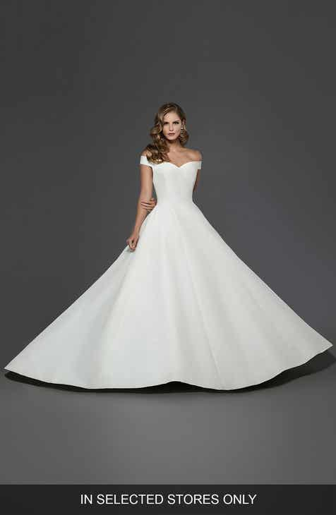 Silk wedding dresses bridal gowns nordstrom matthew christopher antoinette off the shoulder a line gown junglespirit Choice Image