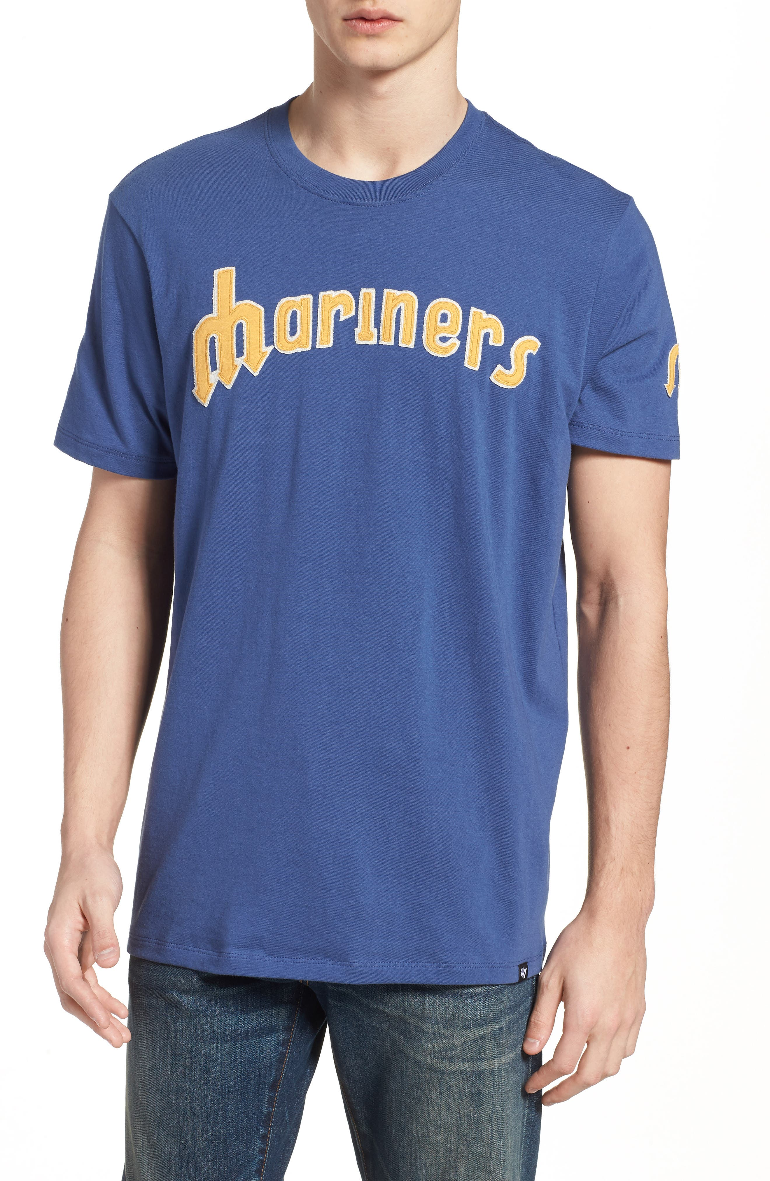 MLB Vintage Fieldhouse Seattle Mariners T-Shirt,                             Main thumbnail 1, color,                             Bleacher Blue